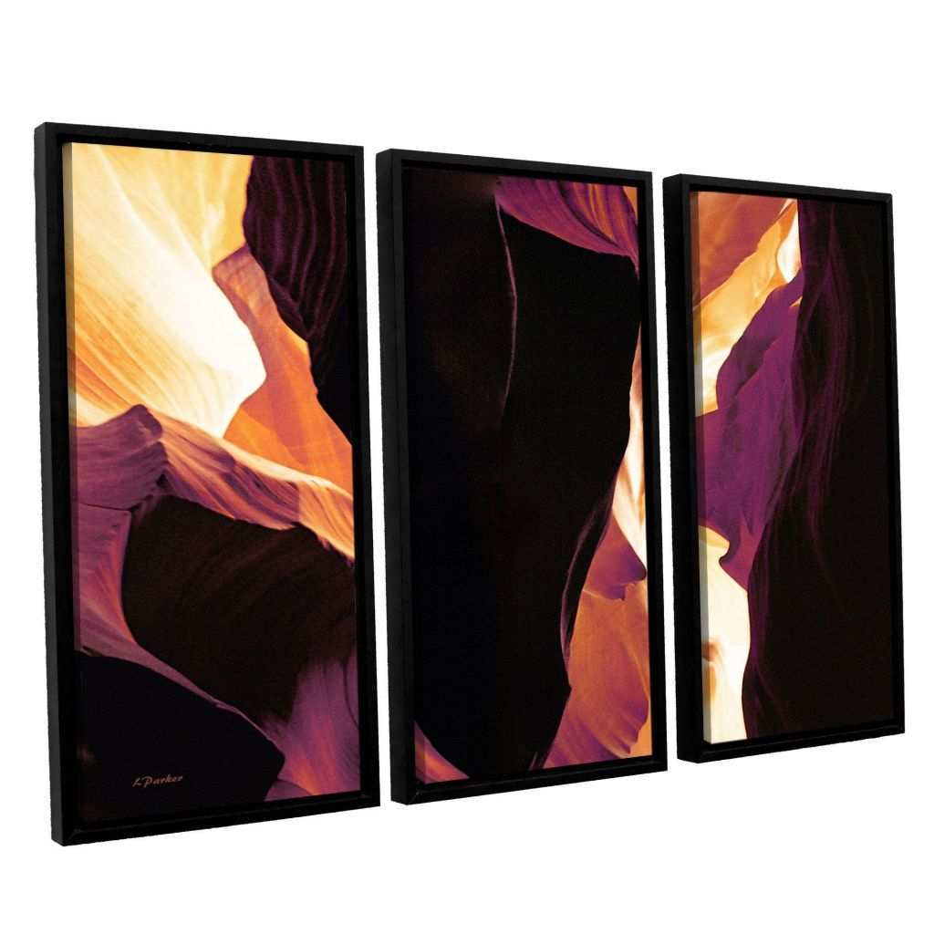 3 Piece Paintings Elegant Slot Canyon Light From 1 by Linda Parker 3 Piece Floater