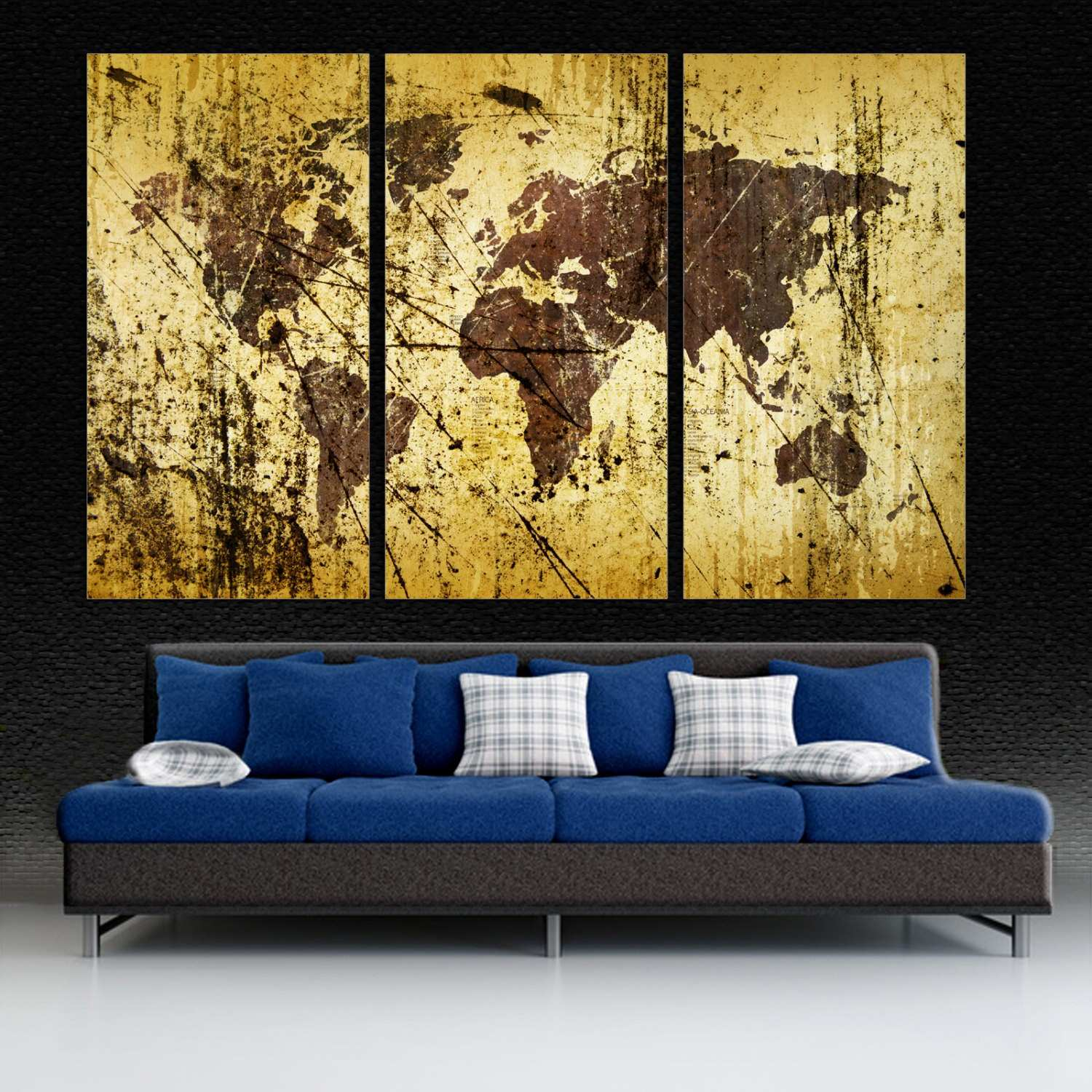 3 Piece Vintage Airplane Canvas Wall Art Fresh Fancy Wall Art Maps ...