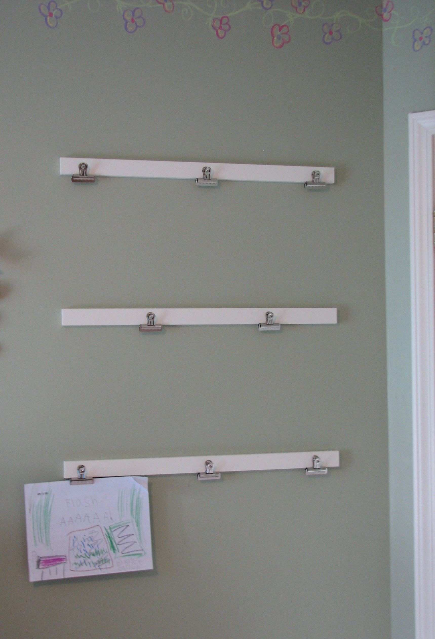 Art display boards attach with mand Velcro strips