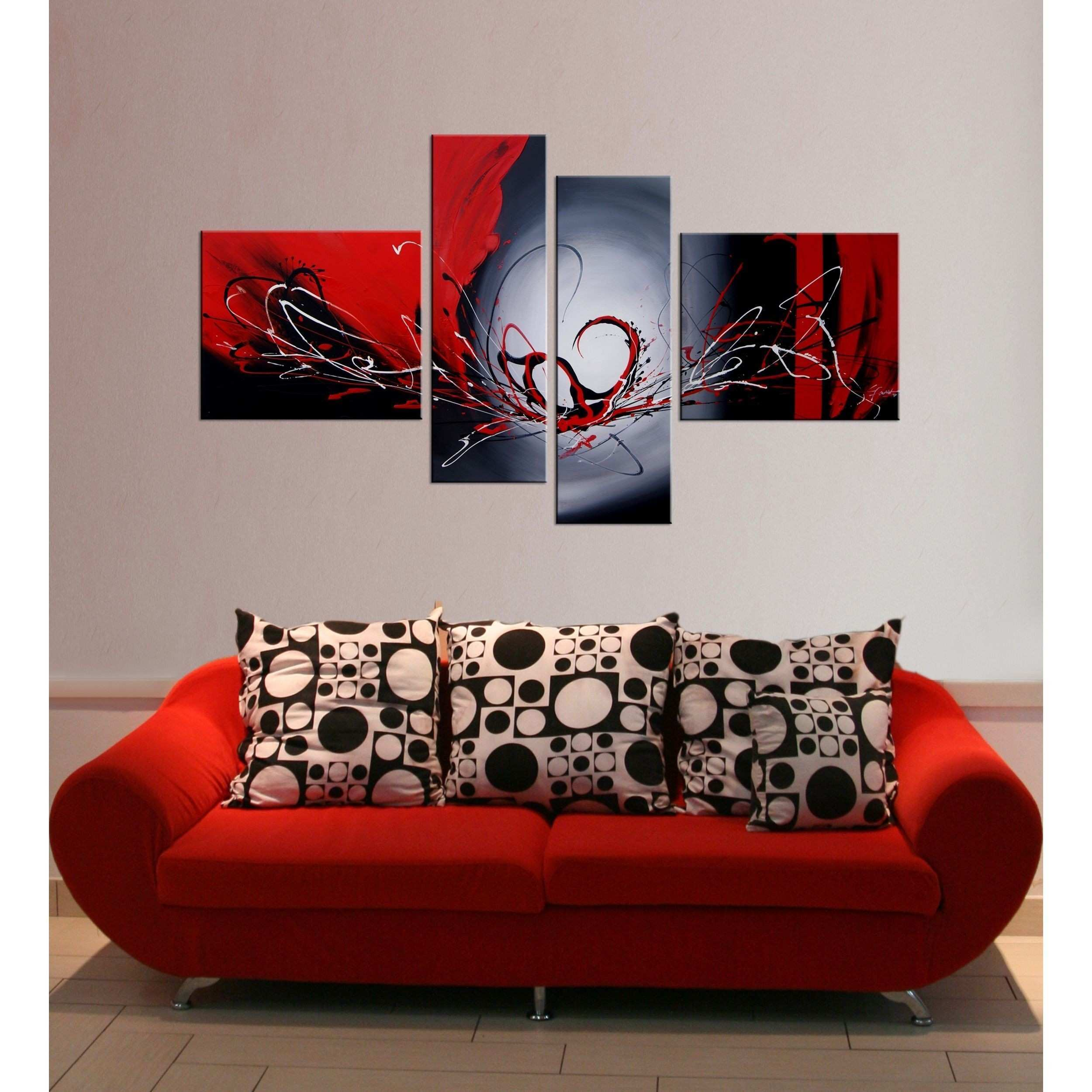 Add mystery to your interior design with this hand painted canvas