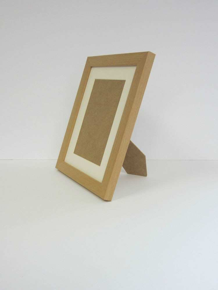 Beech Effect 4x5 Picture Frame Mount 2x3 Free