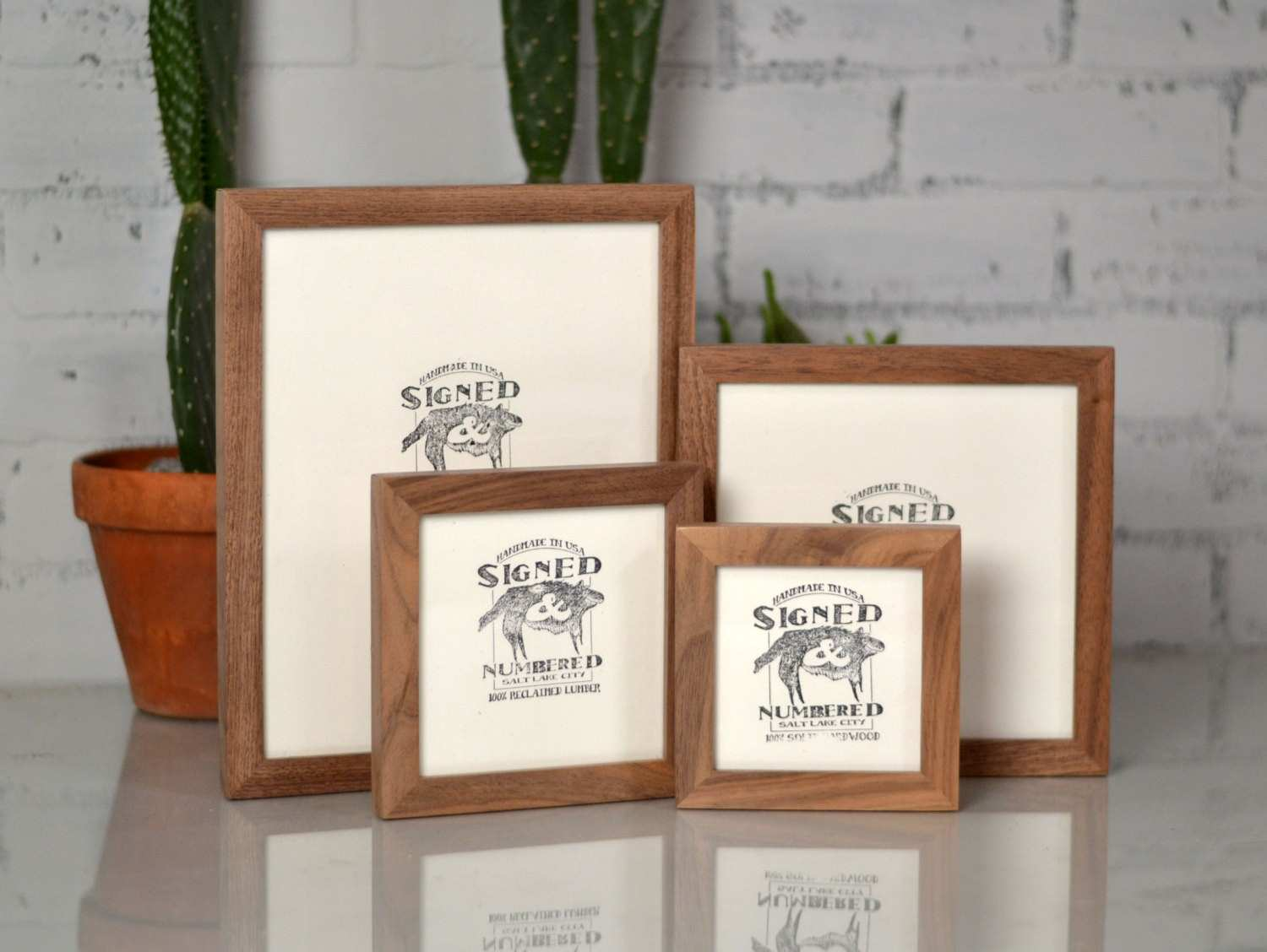 BASIC Picture Frame Natural WALNUT Gallery Wall Frames