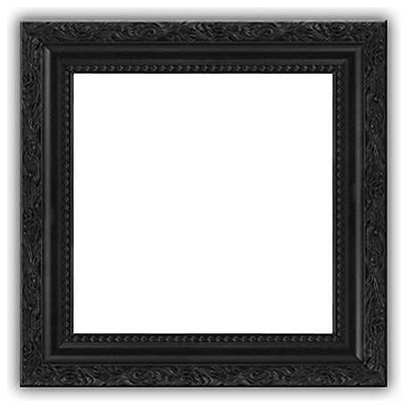 Black Picture Frame Solid Wood 4x5 No Glass Vertical