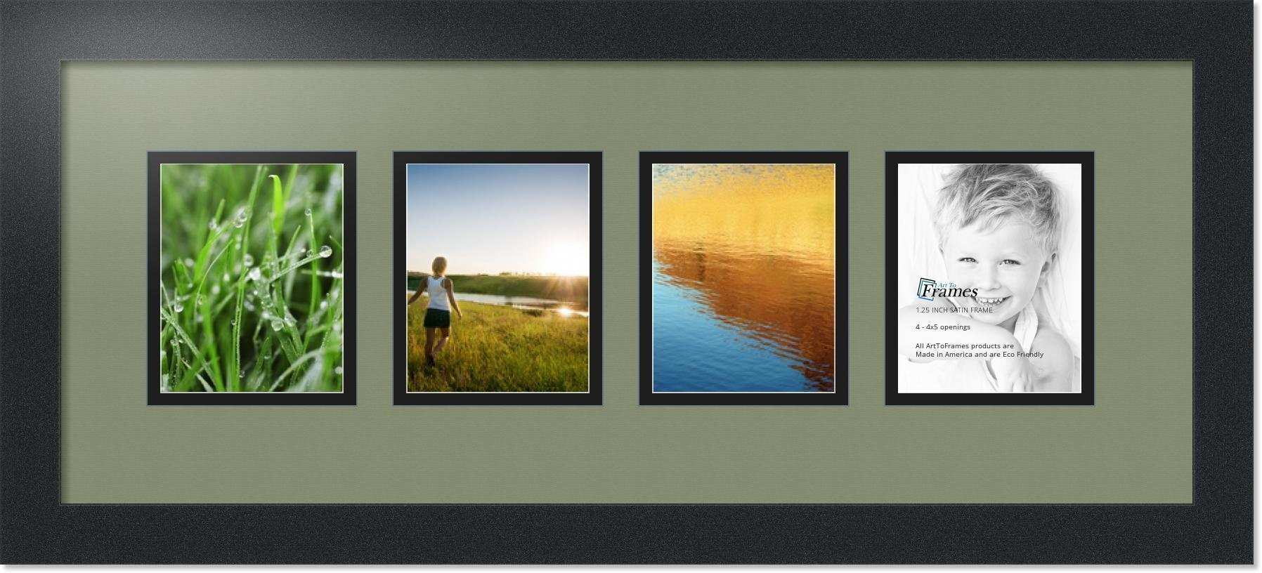 ArtToFrames Collage Mat Picture Frame 4 4x5