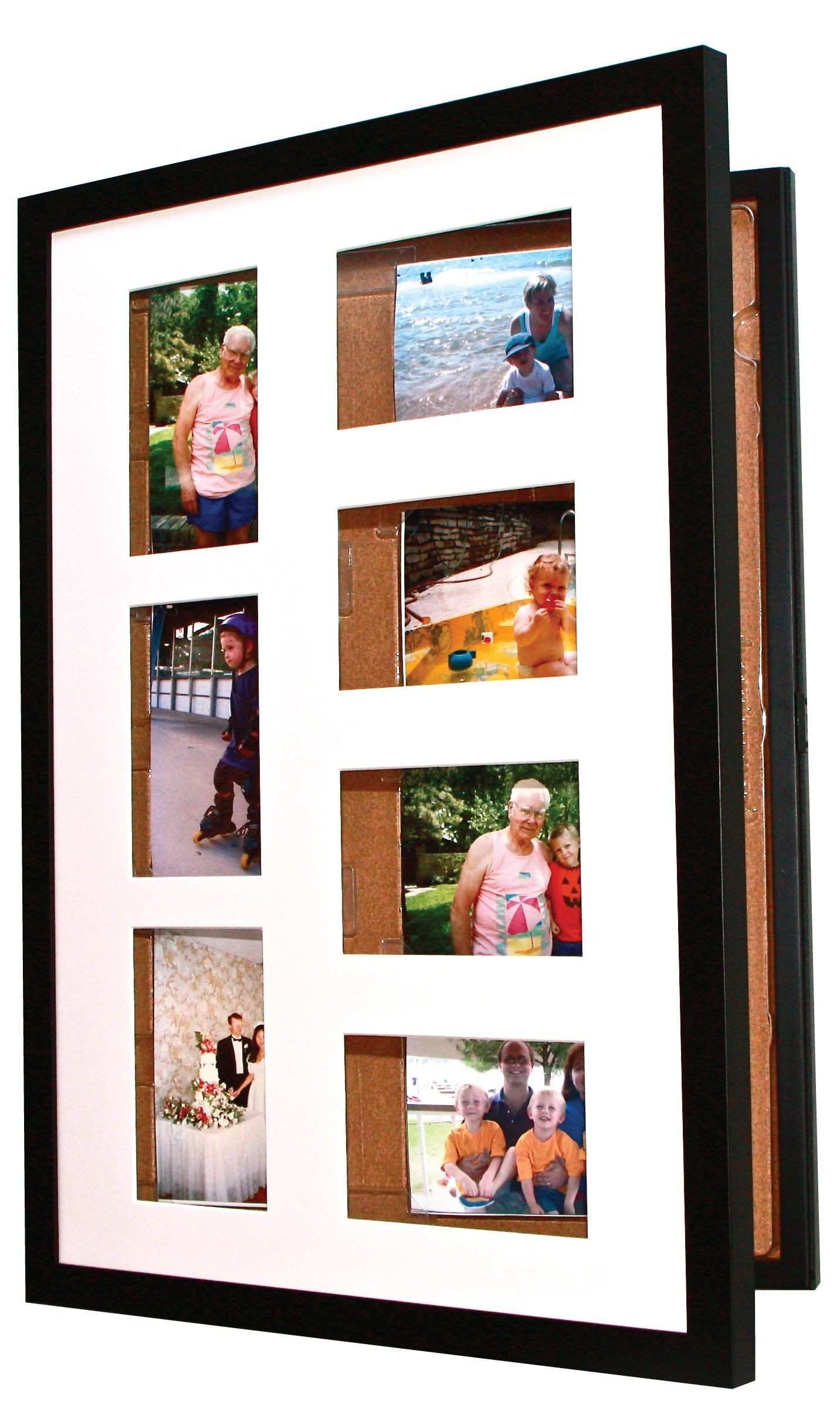 The Pinster Pix lets you use the frame as a shadowbox corkboard or