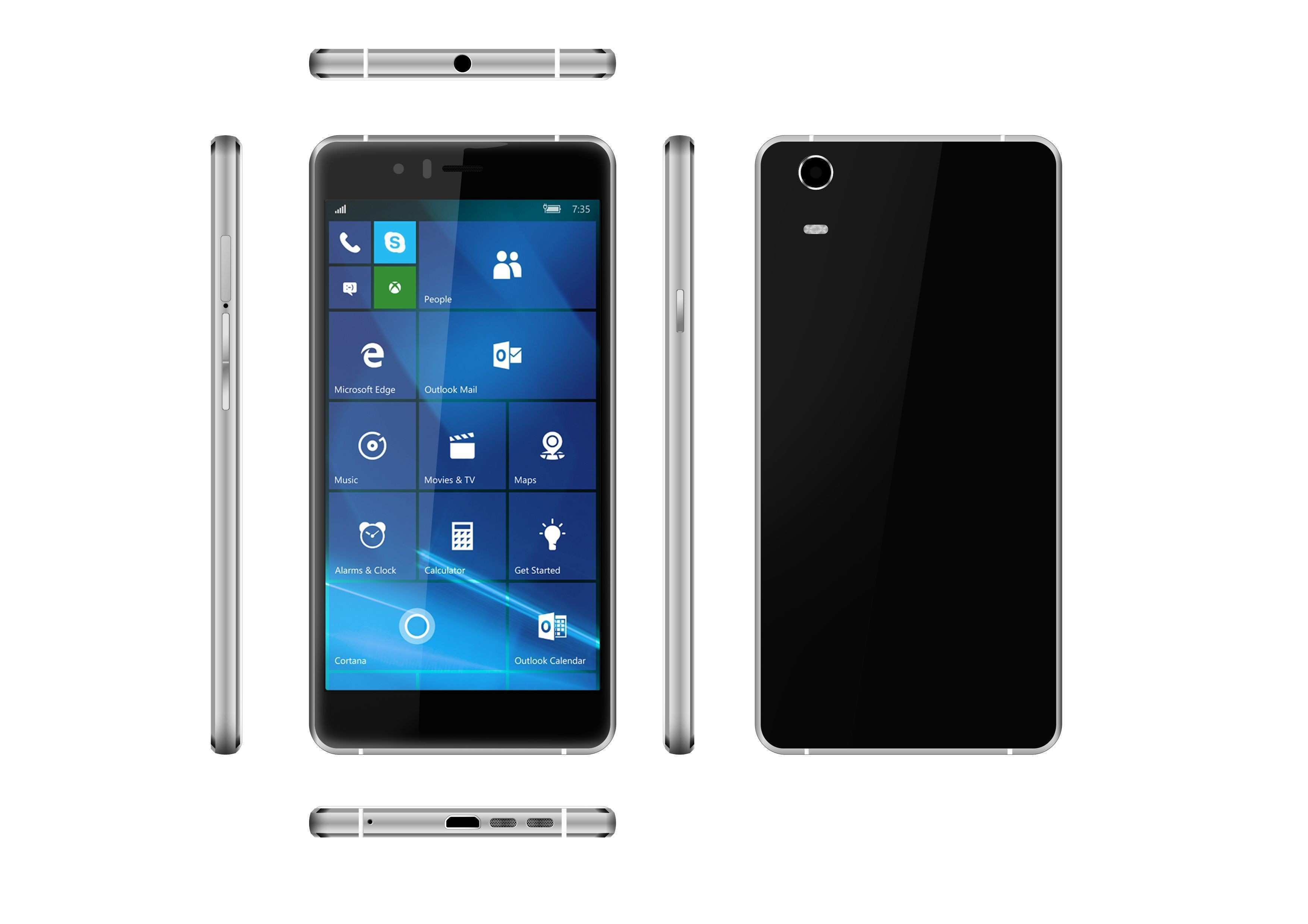 5 inch brilliant windows 10 phone Moly W5 equipped with metal frame