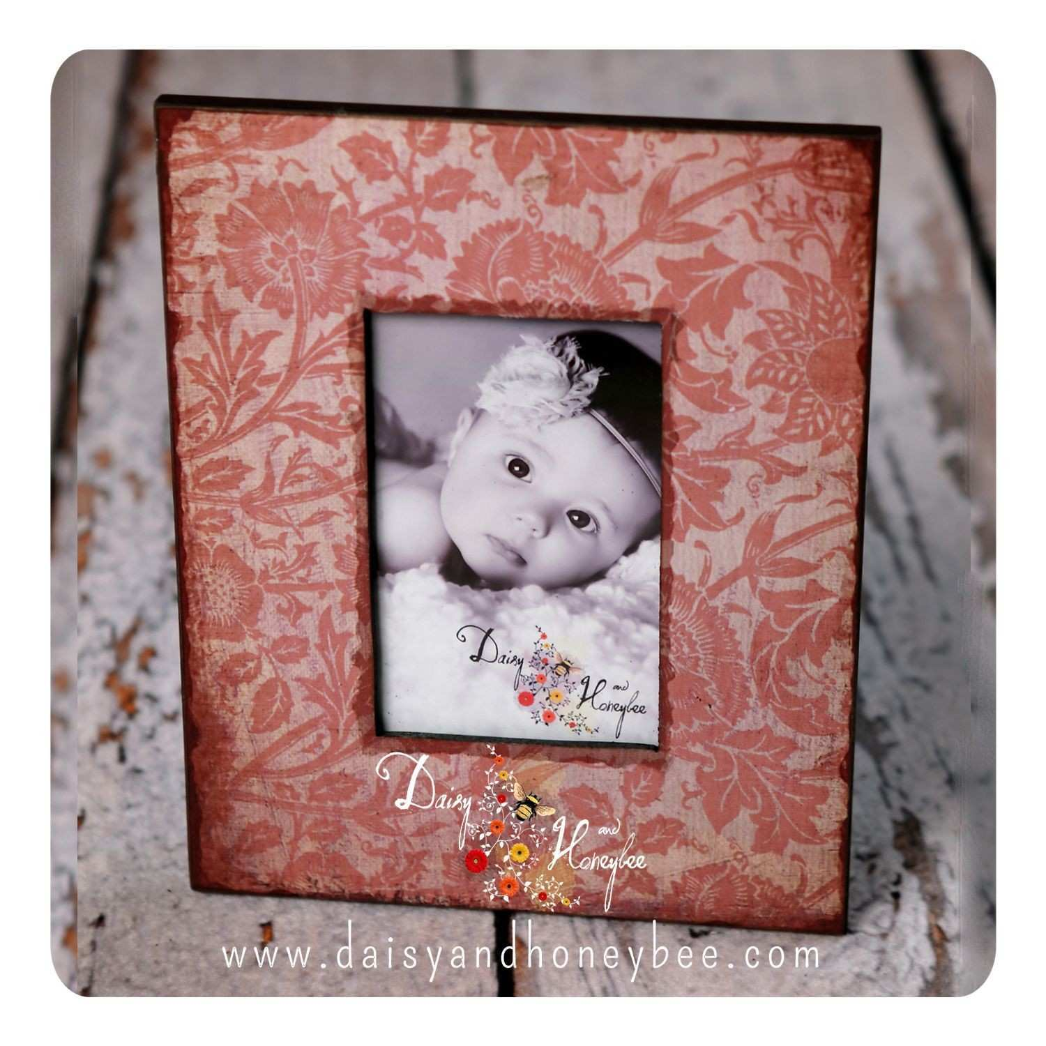 Baby Portrait Frame baby breath rose Baby Frames