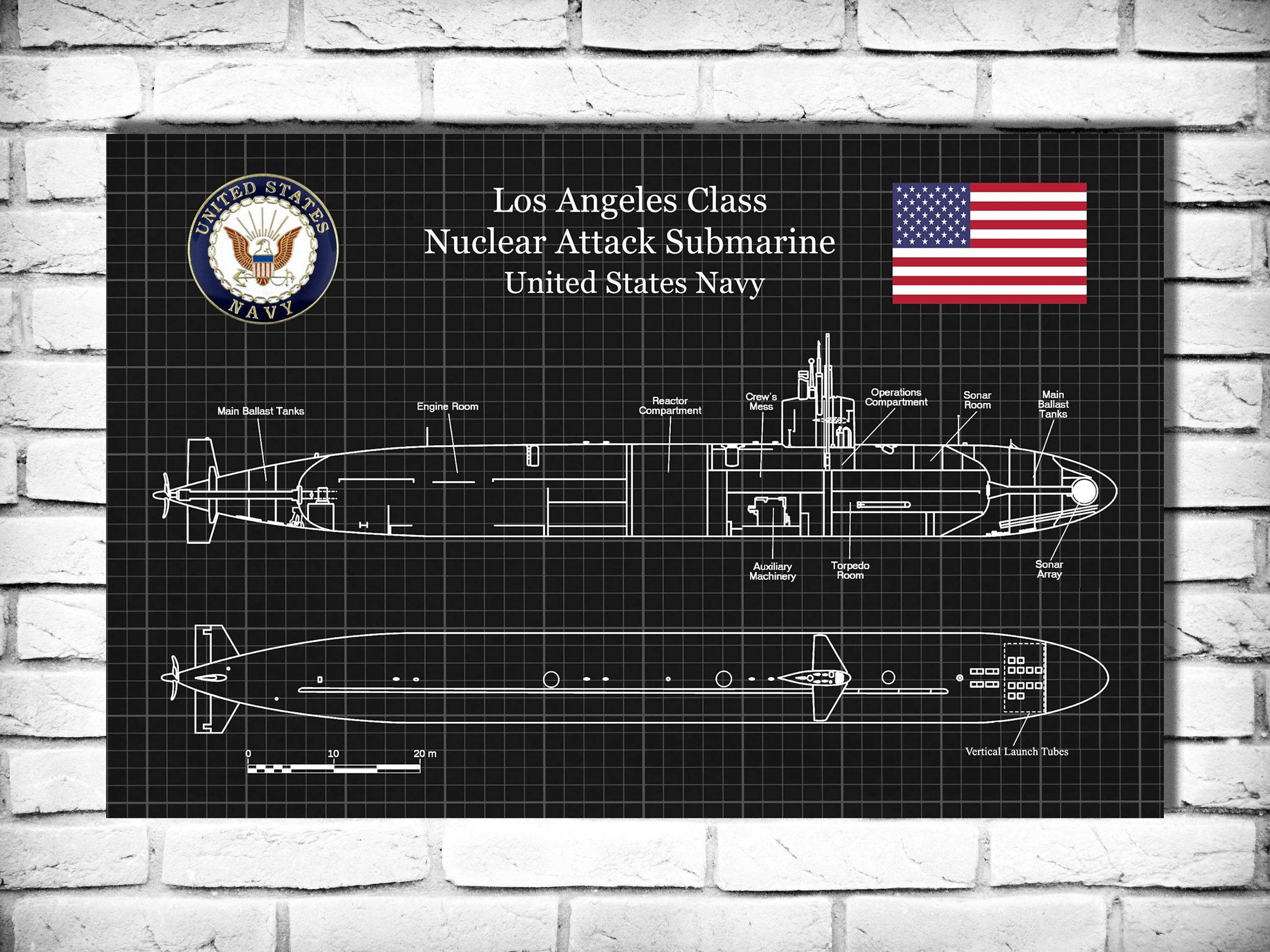 8 X 10 Wall Art Prints Luxury Uss Los Angeles Ssn 688 Class Submarine Art Print Poster Naval