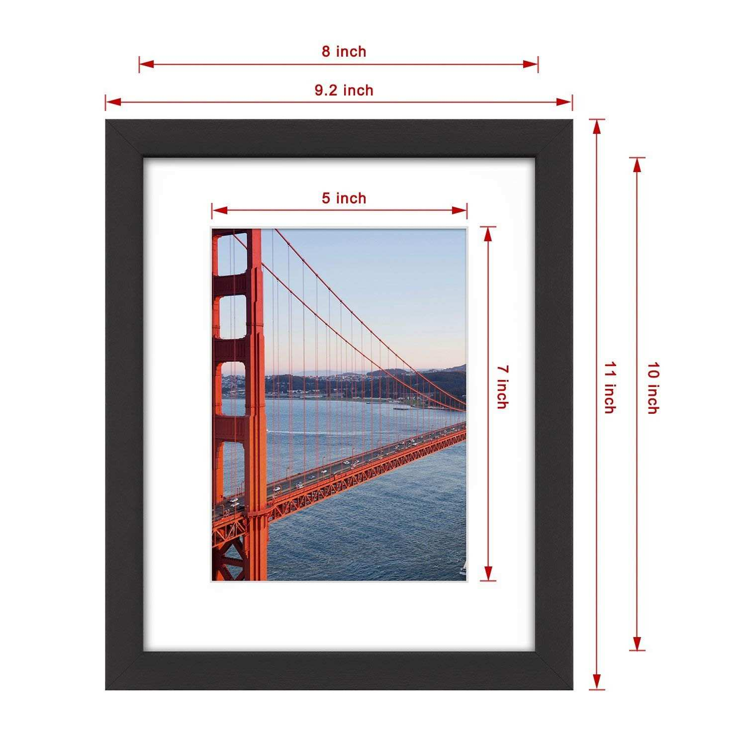 Solid Wood Picture Frames wholesale New Amazon 8—10 Picture Frame