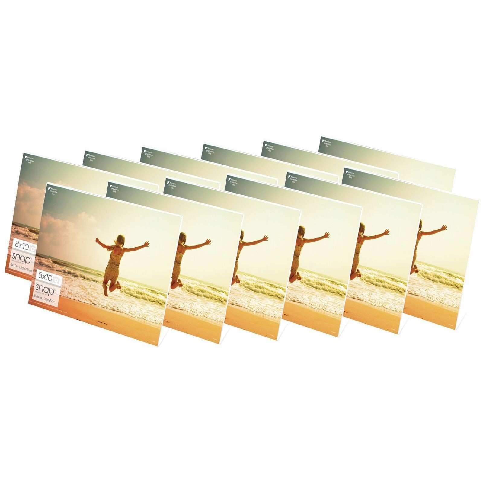 Snap Horizontal Acrylic Frames Pack of 12 8x10 Clear