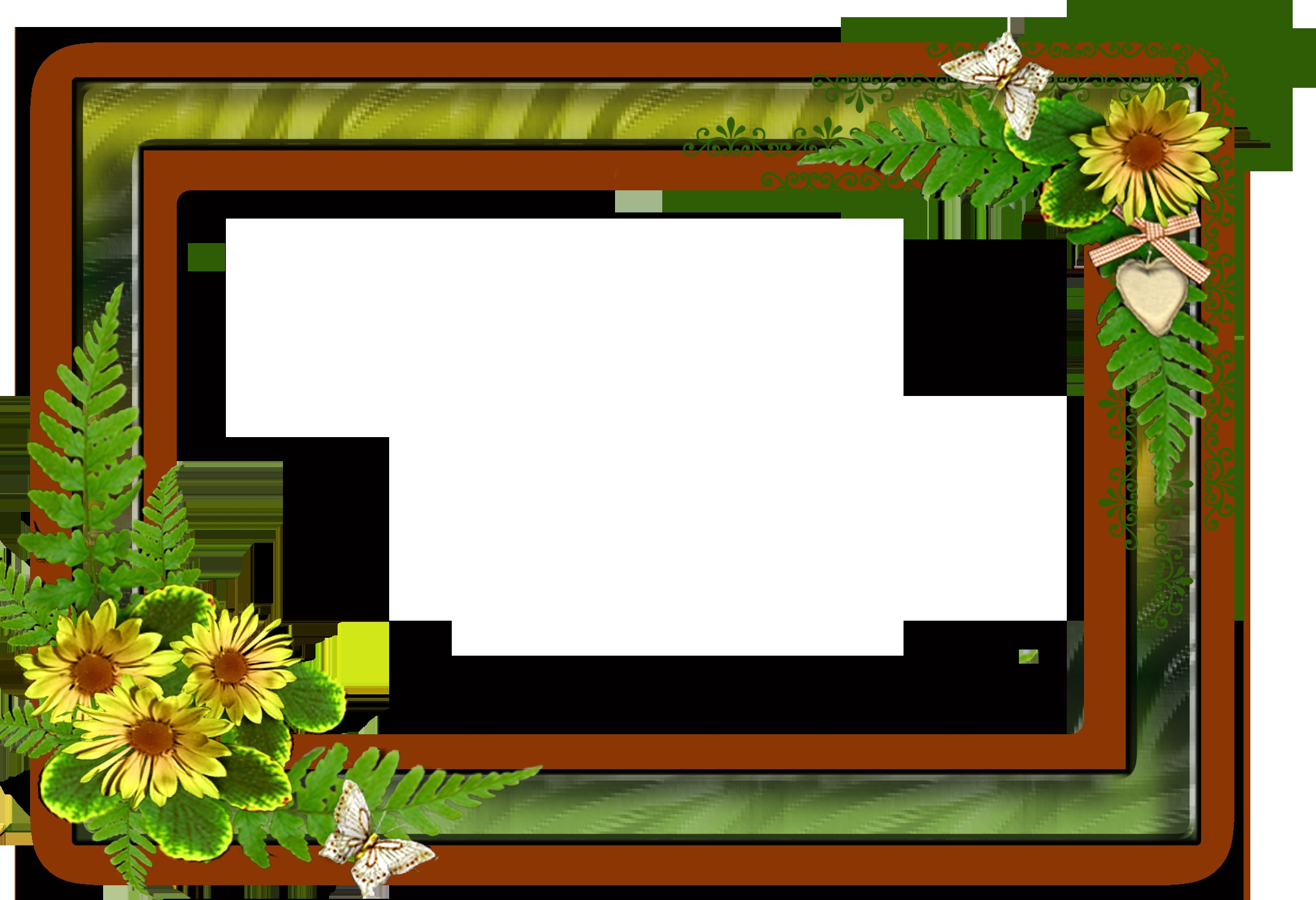 8x12 Picture Frame Fresh Png Frame with Flowers On A Transparent ...