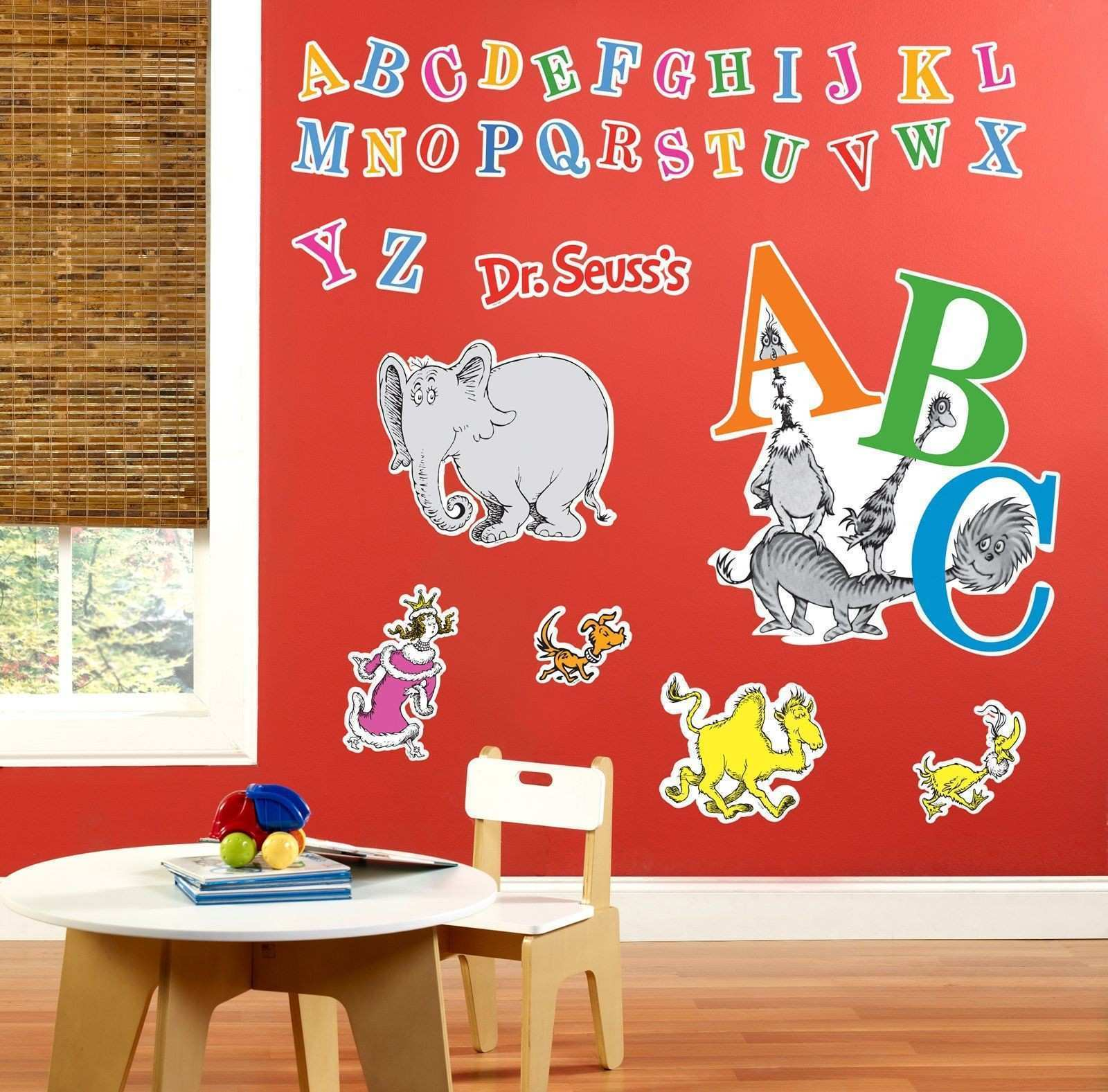 Dr Seuss ABC Giant Wall Decals from BirthdayExpress