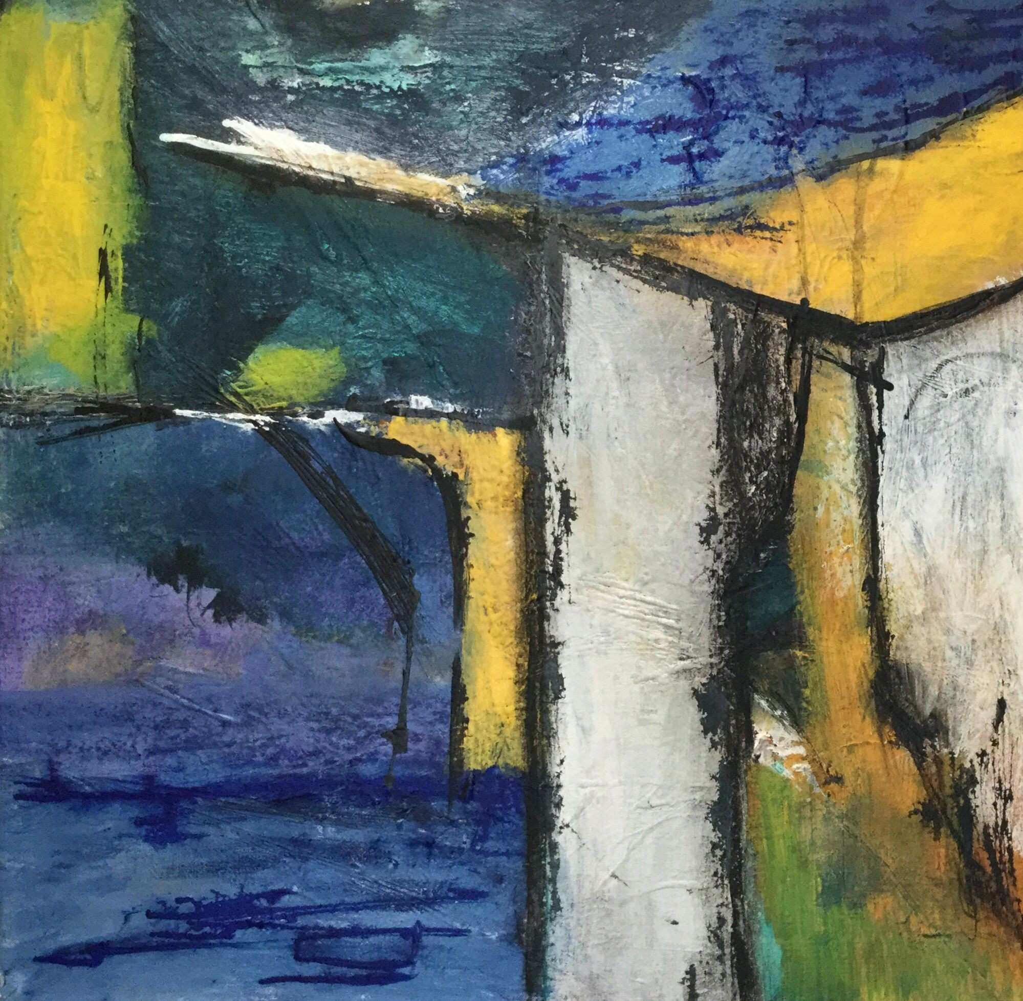 Kate Okholm Acryl 50 x 50 Abstract Painting Pinterest