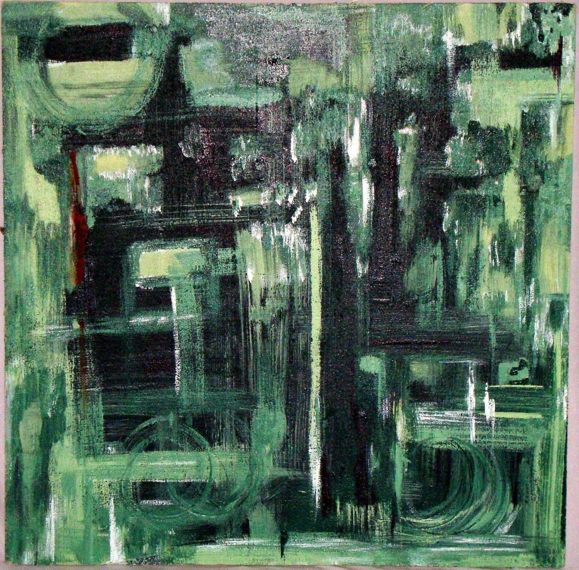Terra Verde Original Abstract Painting by Alaina