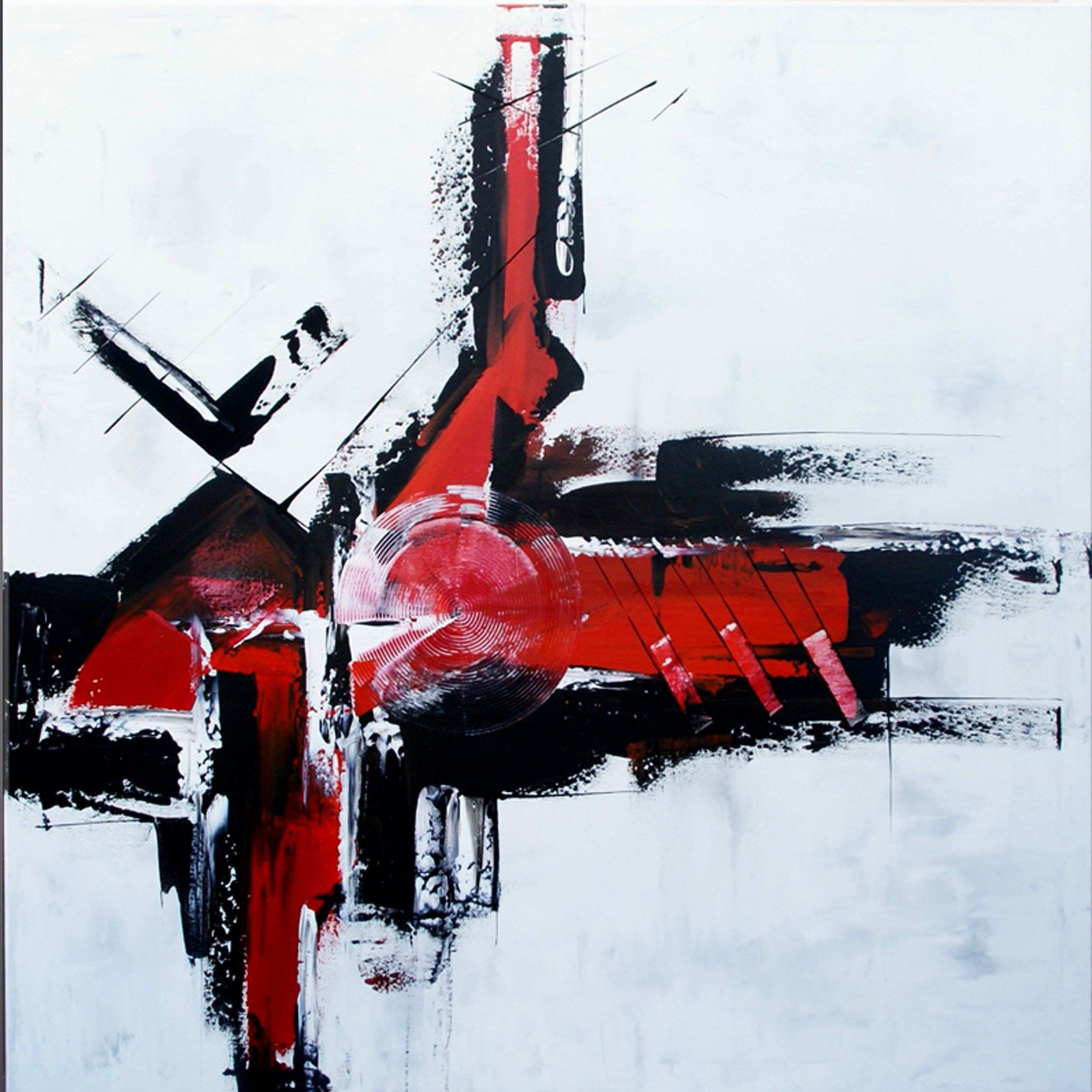 For Sale position with Black White and Red by ModernArtbyAda