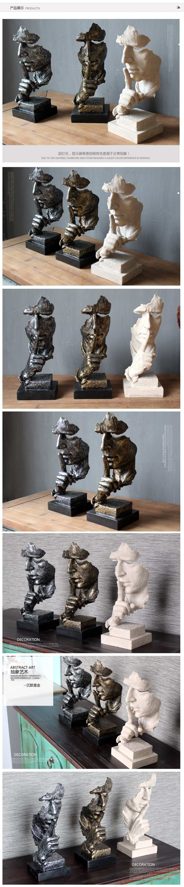 Free Shipping Decorative Craft Resin Figure Statue Abstract