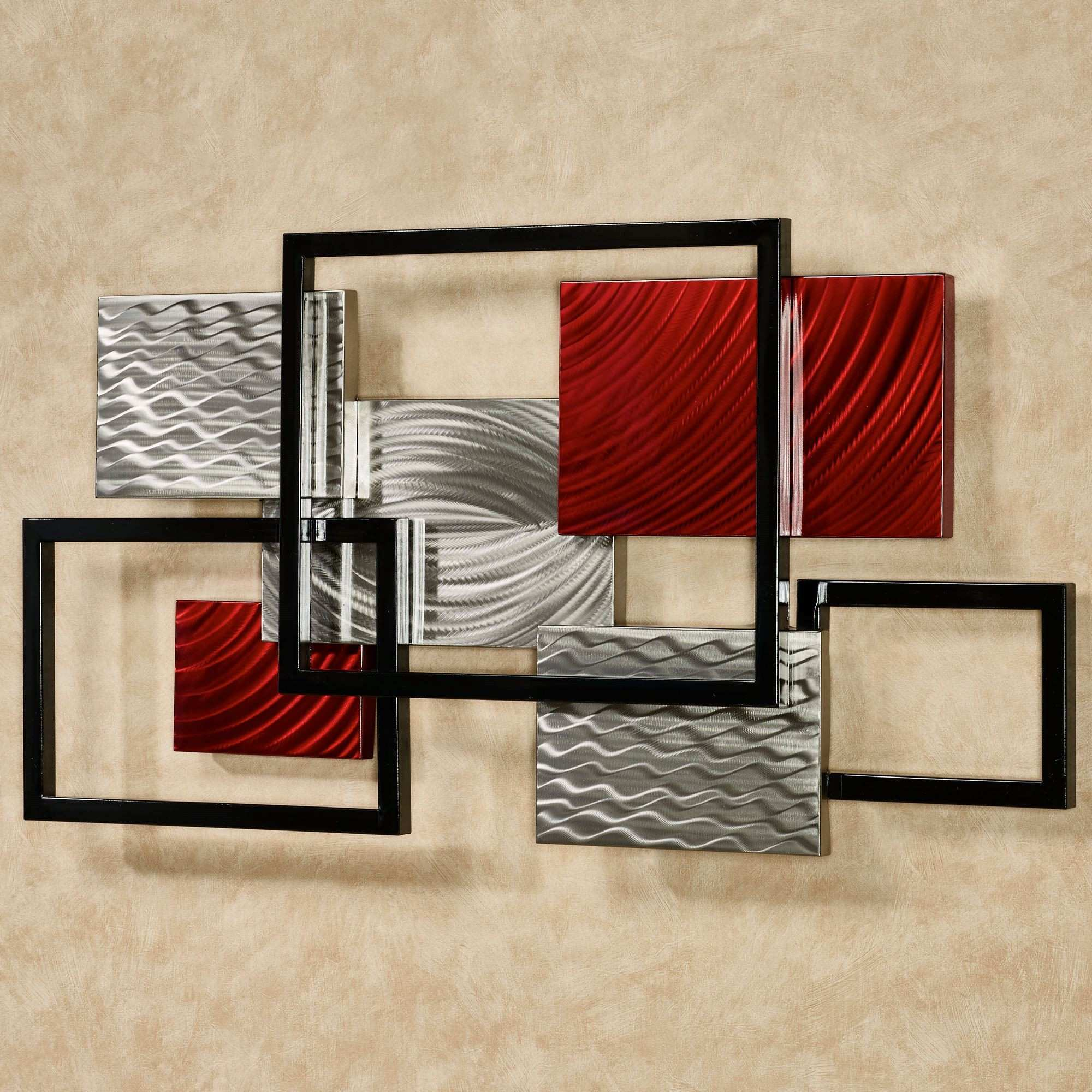 Red and Black Metal Wall Art Magnificent Red and Black Metal Wall