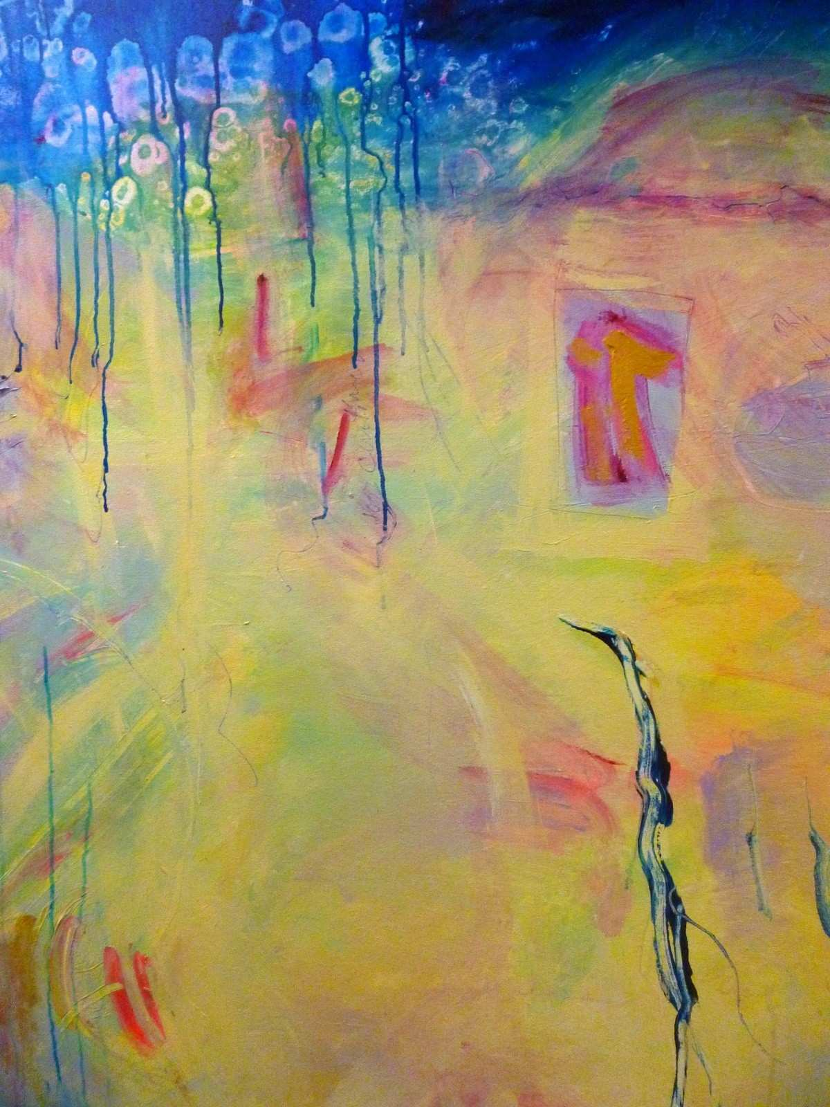 Abstract Painting On Canvas Lovely Acrylic Painting – Saltworkstudio