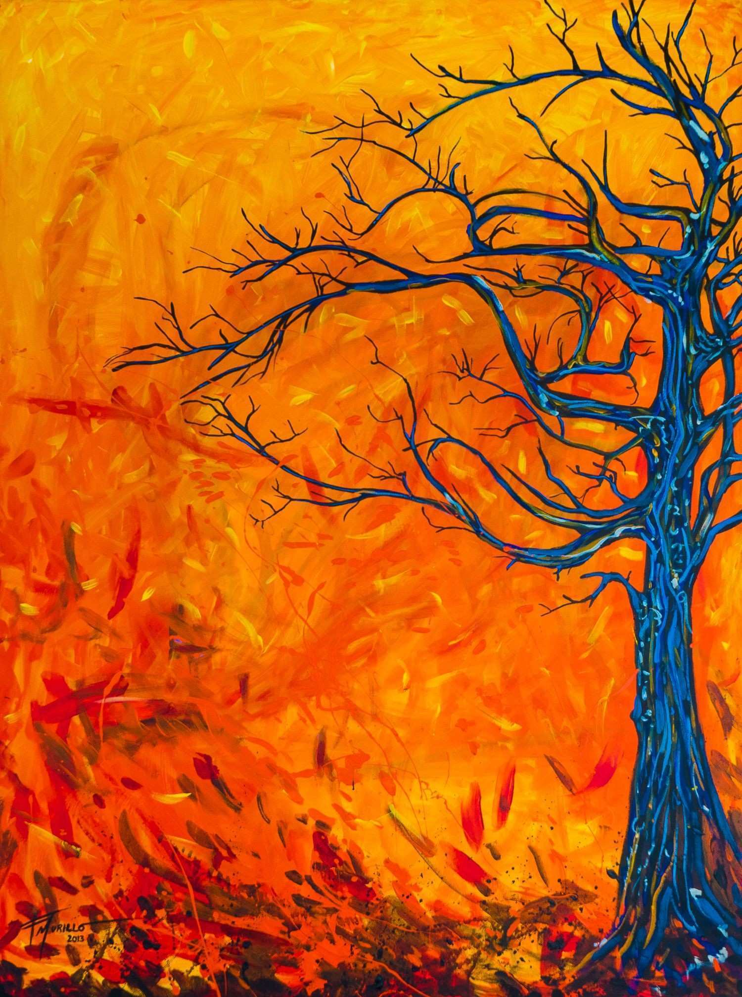 Viento acrylic painting 120x90 cm Depicting abstract