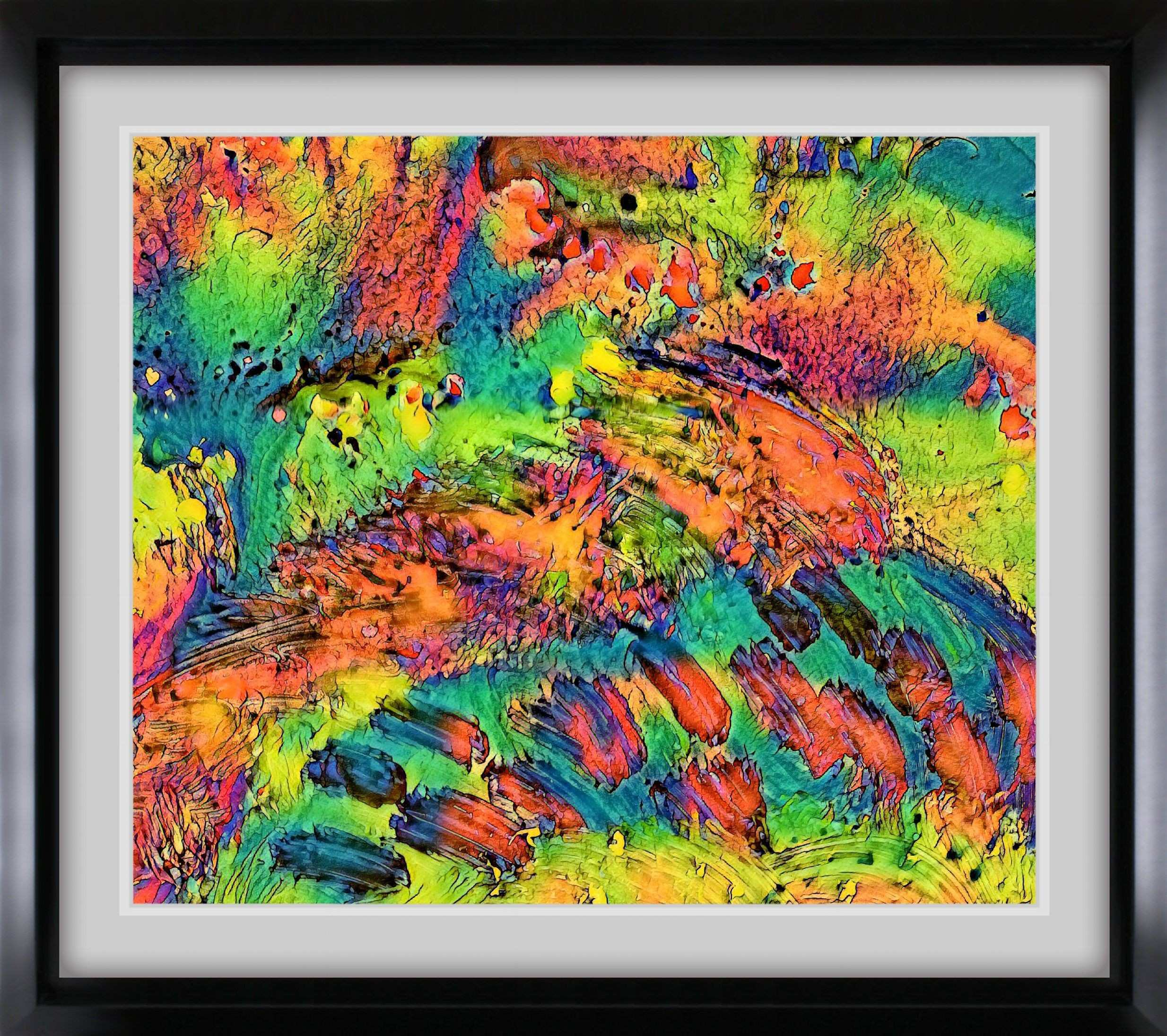 Vibrant Sunset 2 Abstract Expressionism Fine Art Print by