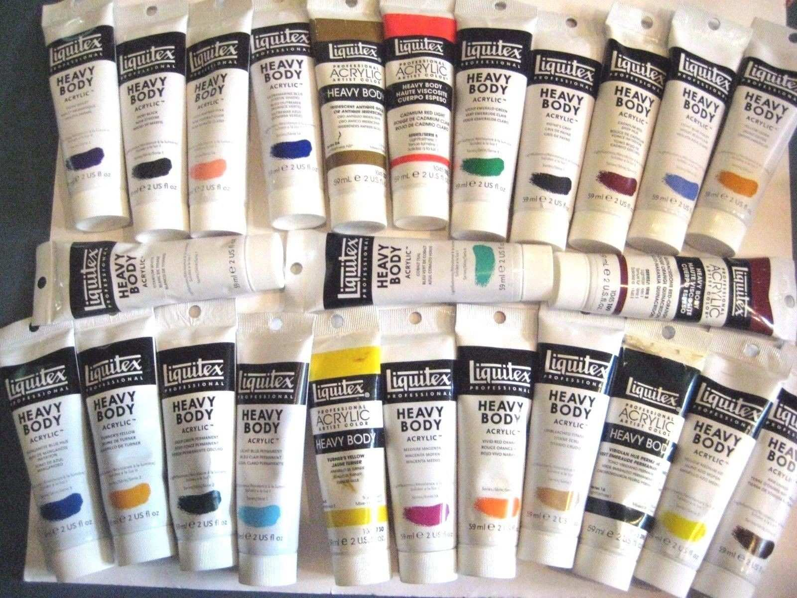 Acrylic Paint Liquitex Acrylic Heavy Body Paint Big Lot 25