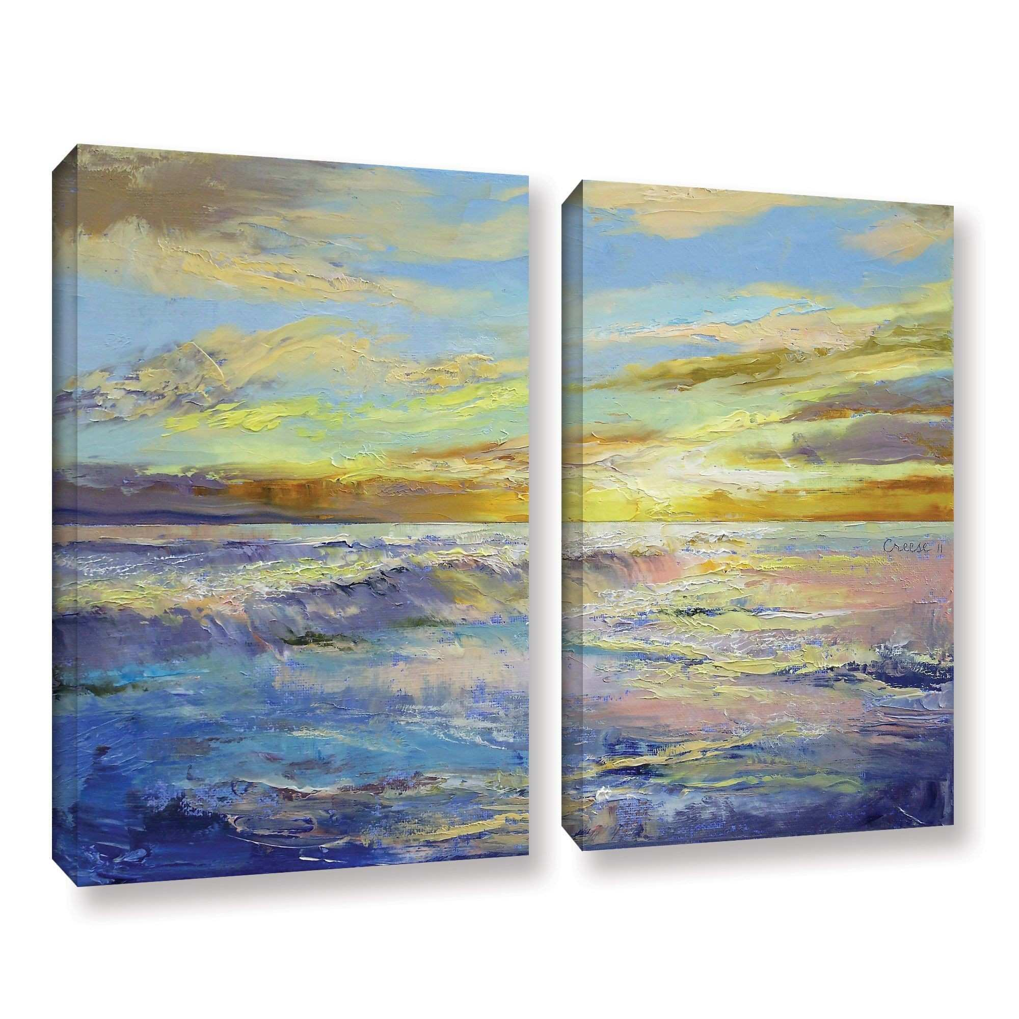 Florida Sunrise by Michael Creese 2 Piece Painting Print on Gallery