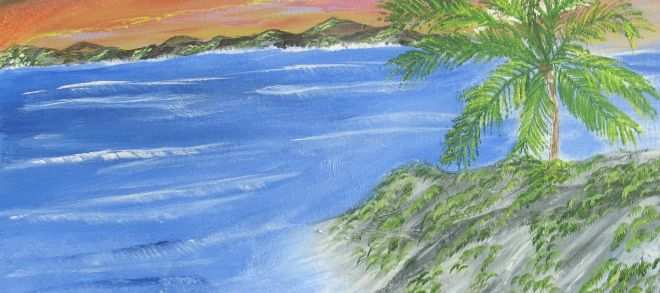 """Acrylic Paintings for Sale Awesome Lonely Tree"""" 16"""" by 20"""" Acrylic Painting Artist Frank Rescigno Price"""