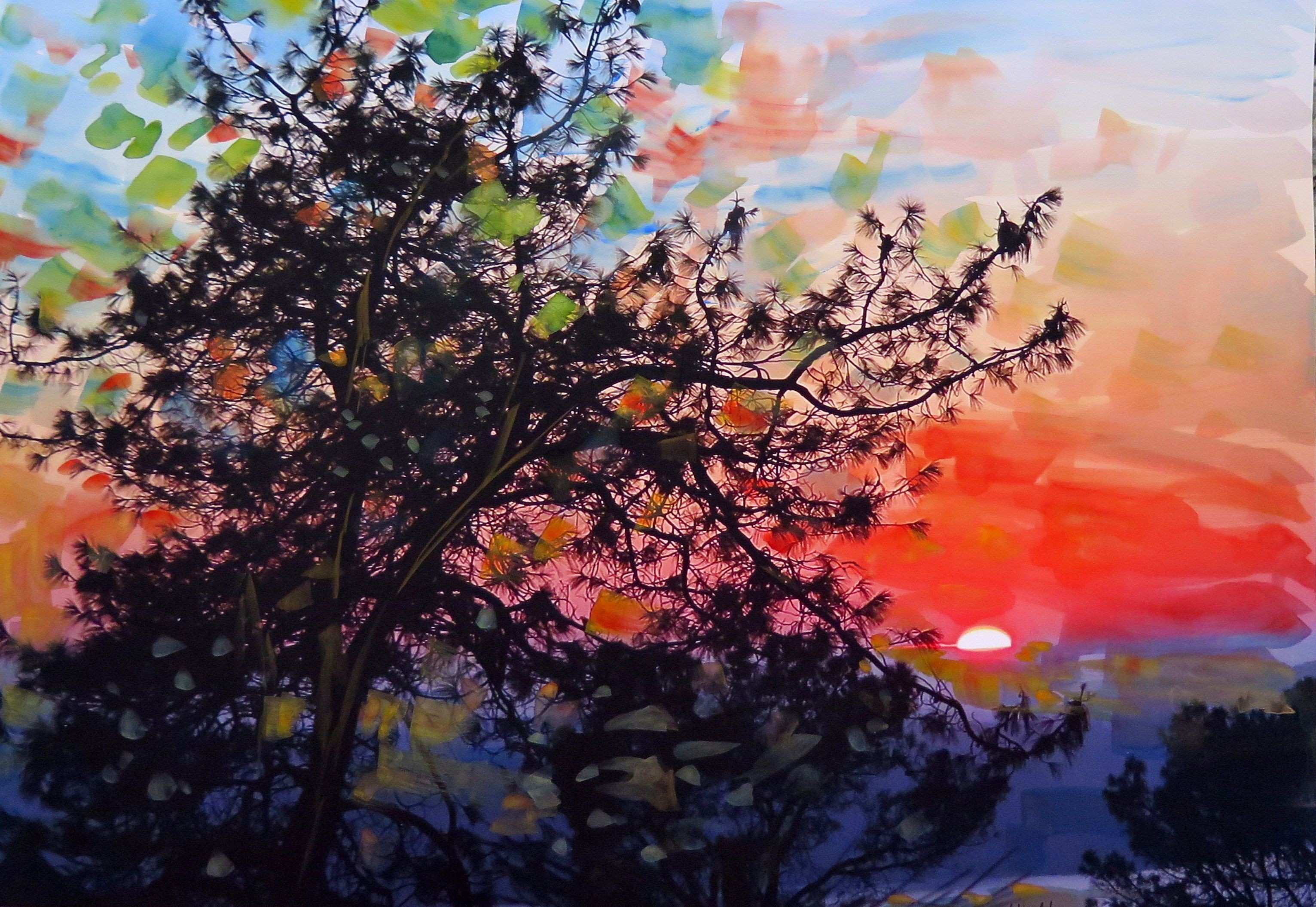 For Sale California February Sunset by Jean Vadal Smith Bentson