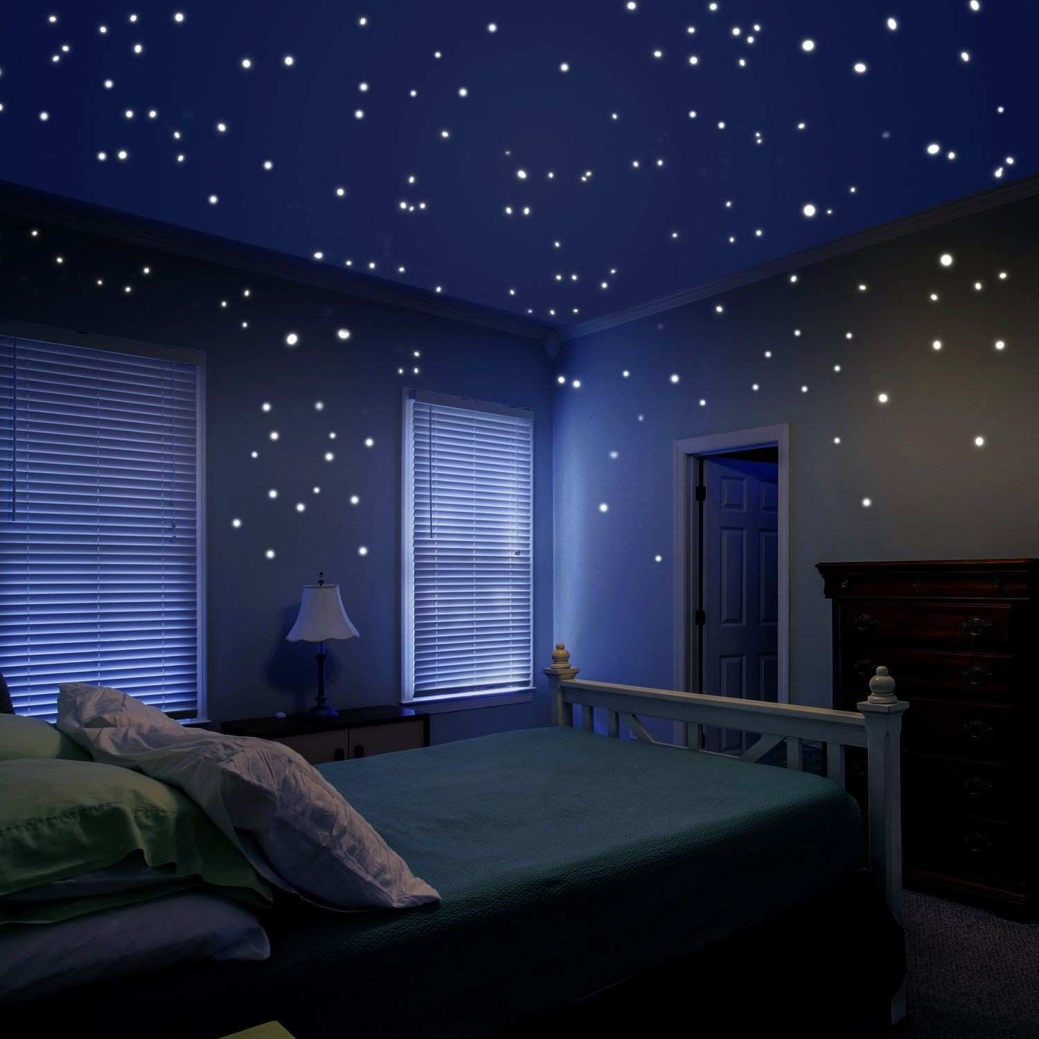 Glow in the Dark Star Decals Glowing Reusable Ceiling Décor of