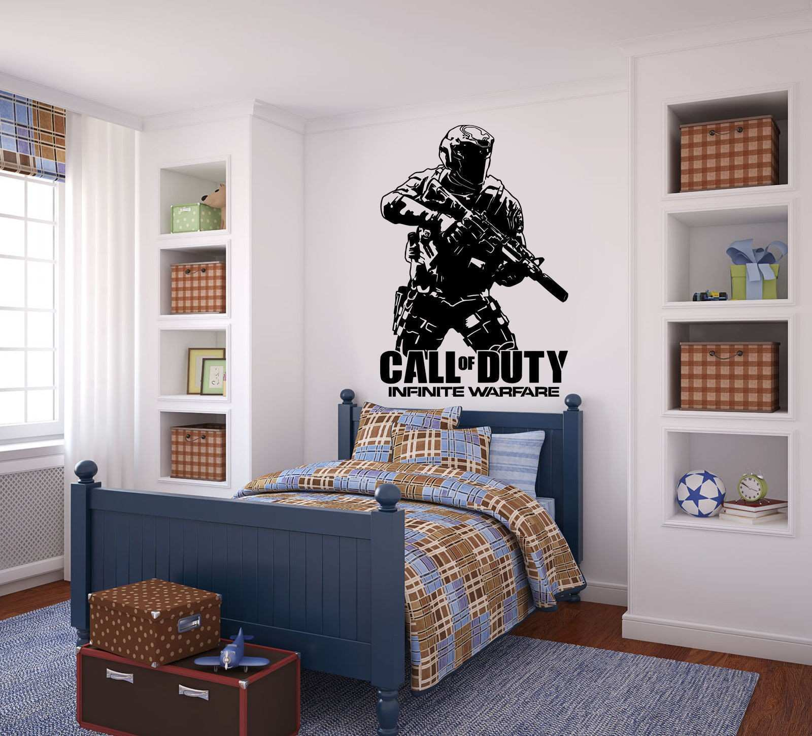 Call of duty Infinite Warfare WARFIGHTER ps4 xbox Vinyl wall art Decal Sticker E590 in Wall Stickers from Home & Garden on Aliexpress