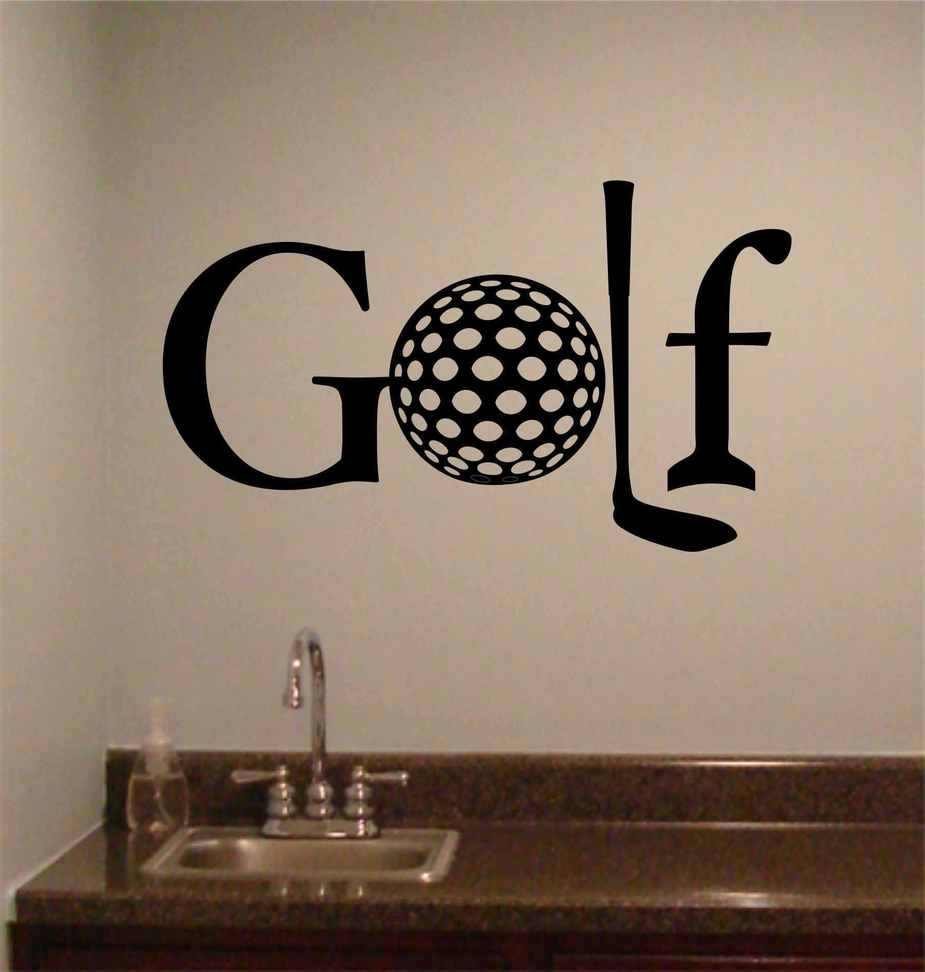 Golf Theme Quote Golf Word Vinyl Wall Lettering Sports Decal