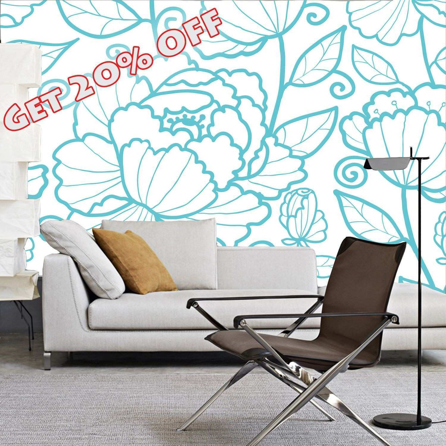 Get off Wall mural self adhesive wallpaper self adhesive