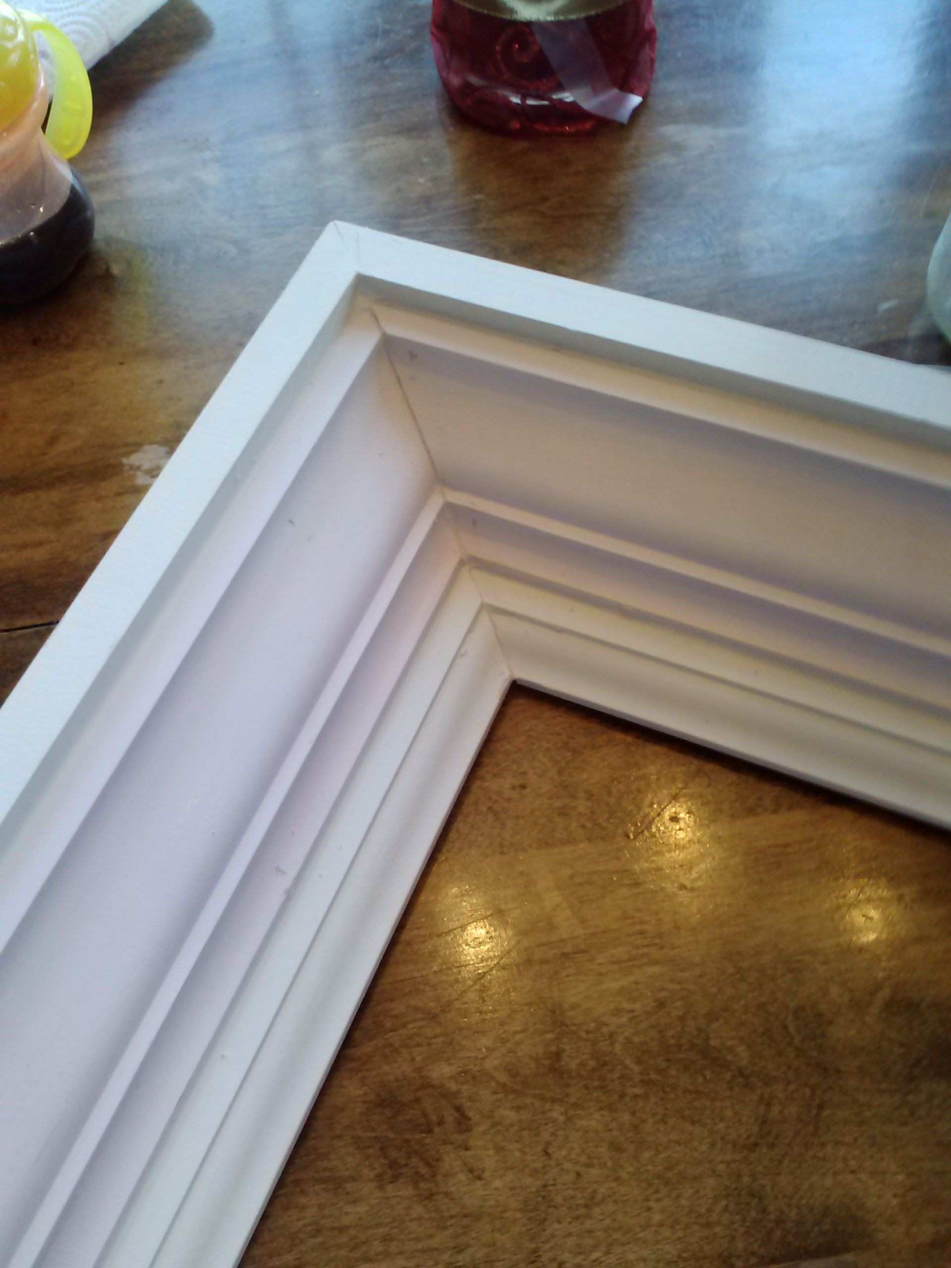 how to build a frame from crown molding Built in