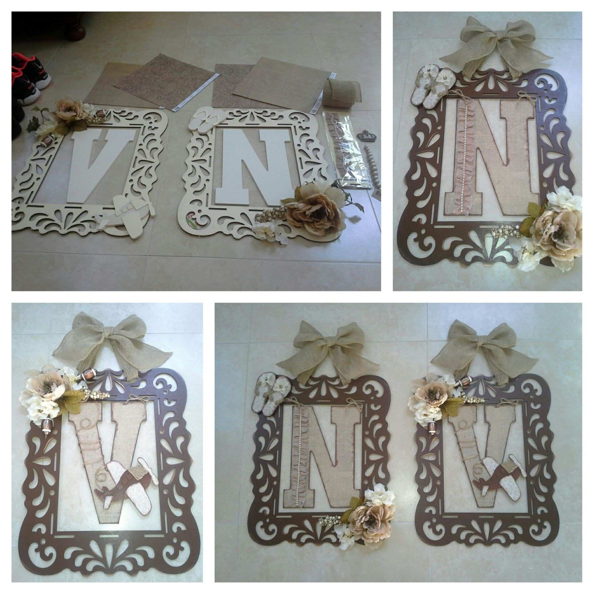DIY Home Decor on a Bud Personalized Framed Initials Tutorial