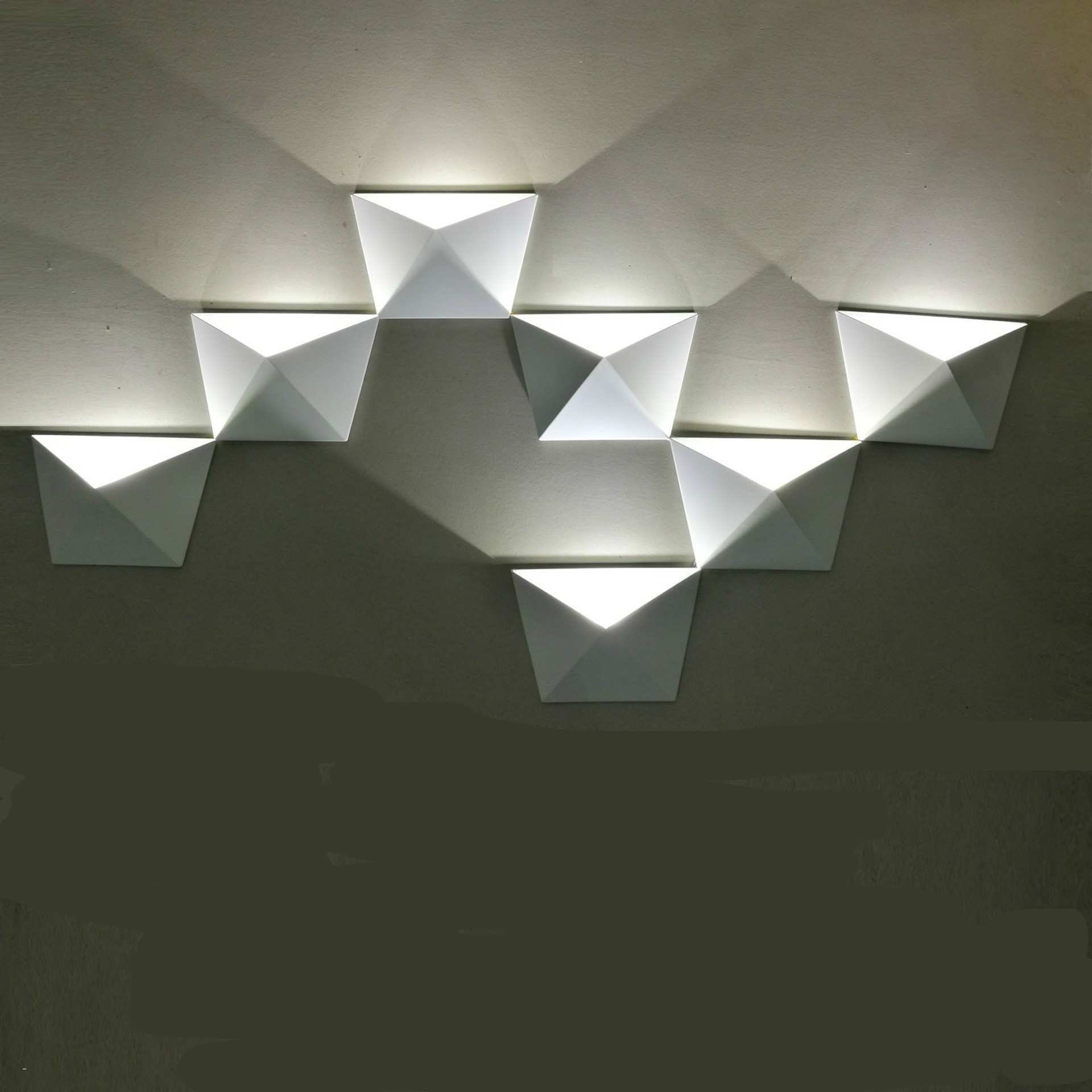 Led Wall Lamp Fresh Light Wall Art Lovely Magic Diy Geometric Box