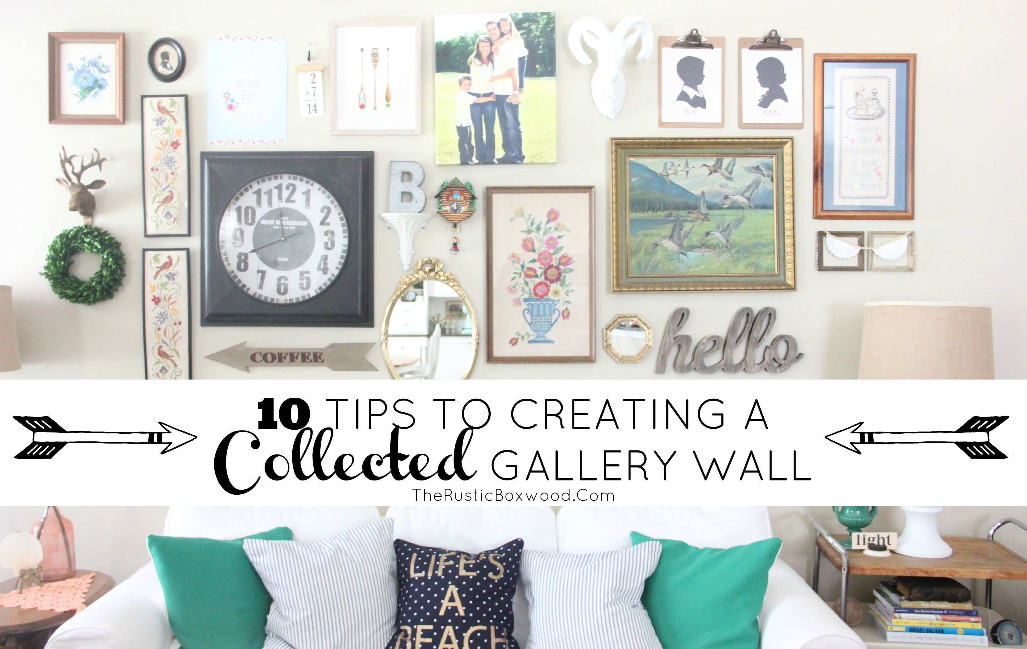 """Our """"Collected Over Time"""" Gallery Wall"""