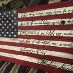 American Flag Wood Wall Art Elegant Wooden American Flag With Quote From Abraham Lincoln Custom Made For Of American Flag Wood Wall Art