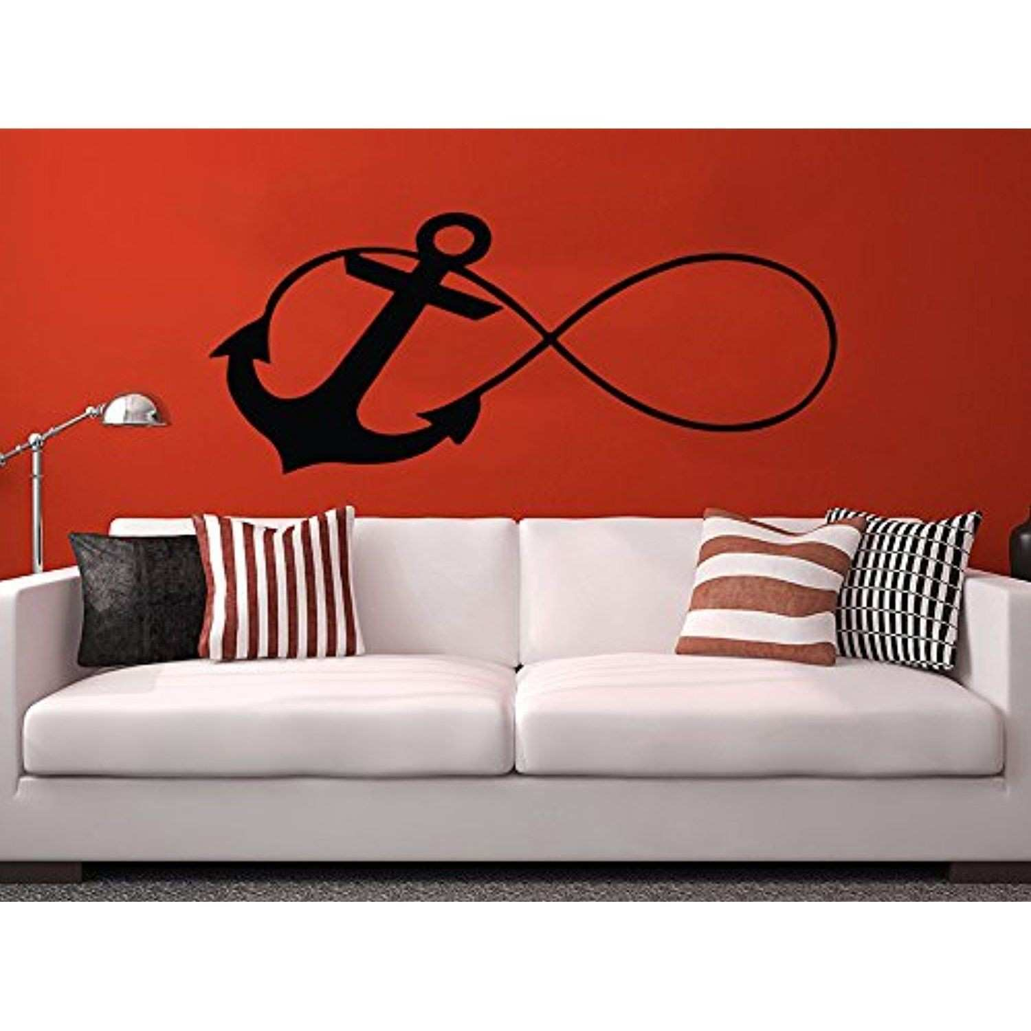 Wall Decal Infinity Sign Anchor Vinyl Sticker Decals Nursery Baby