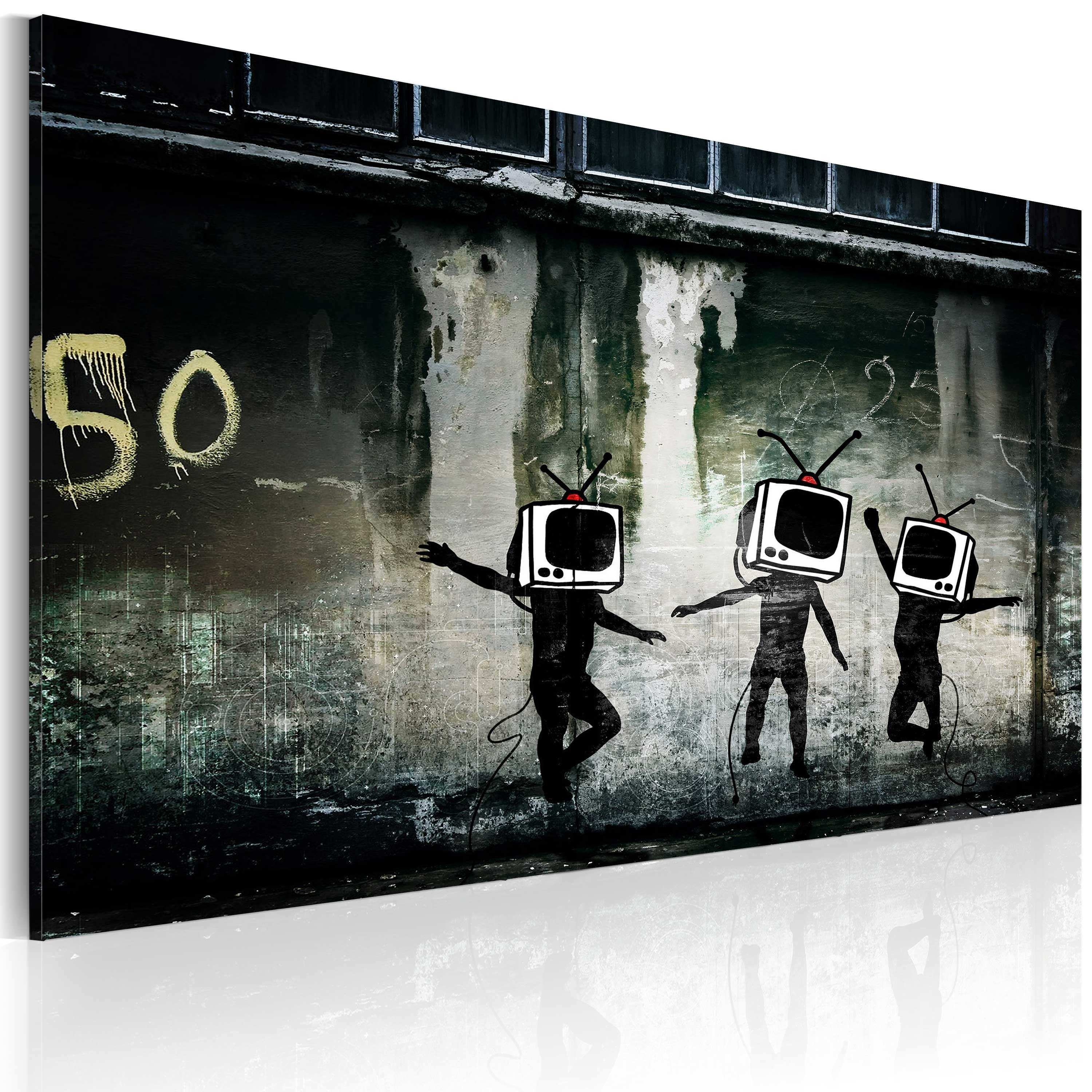 Animal Head Wall Decor Awesome Art Work Tv Heads Dance Banksy