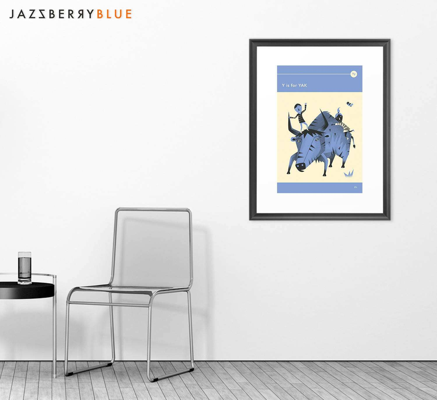 Y is for YAK Giclée Fine Art Print Print Poster Print by