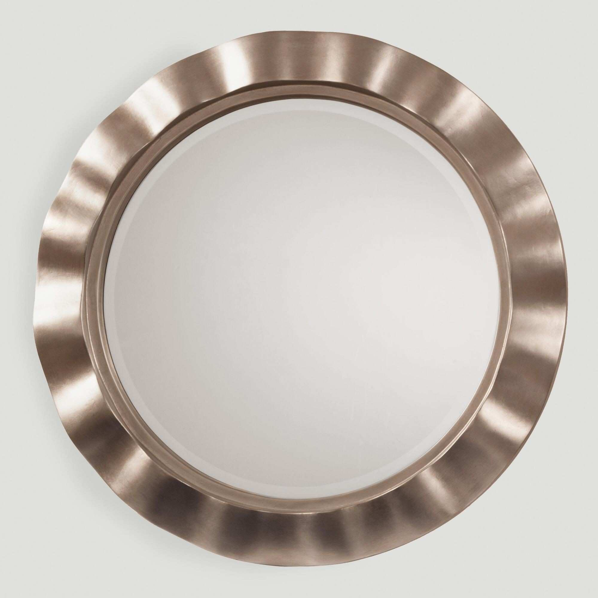 A wavy silver metal border lends eye catching texture to our