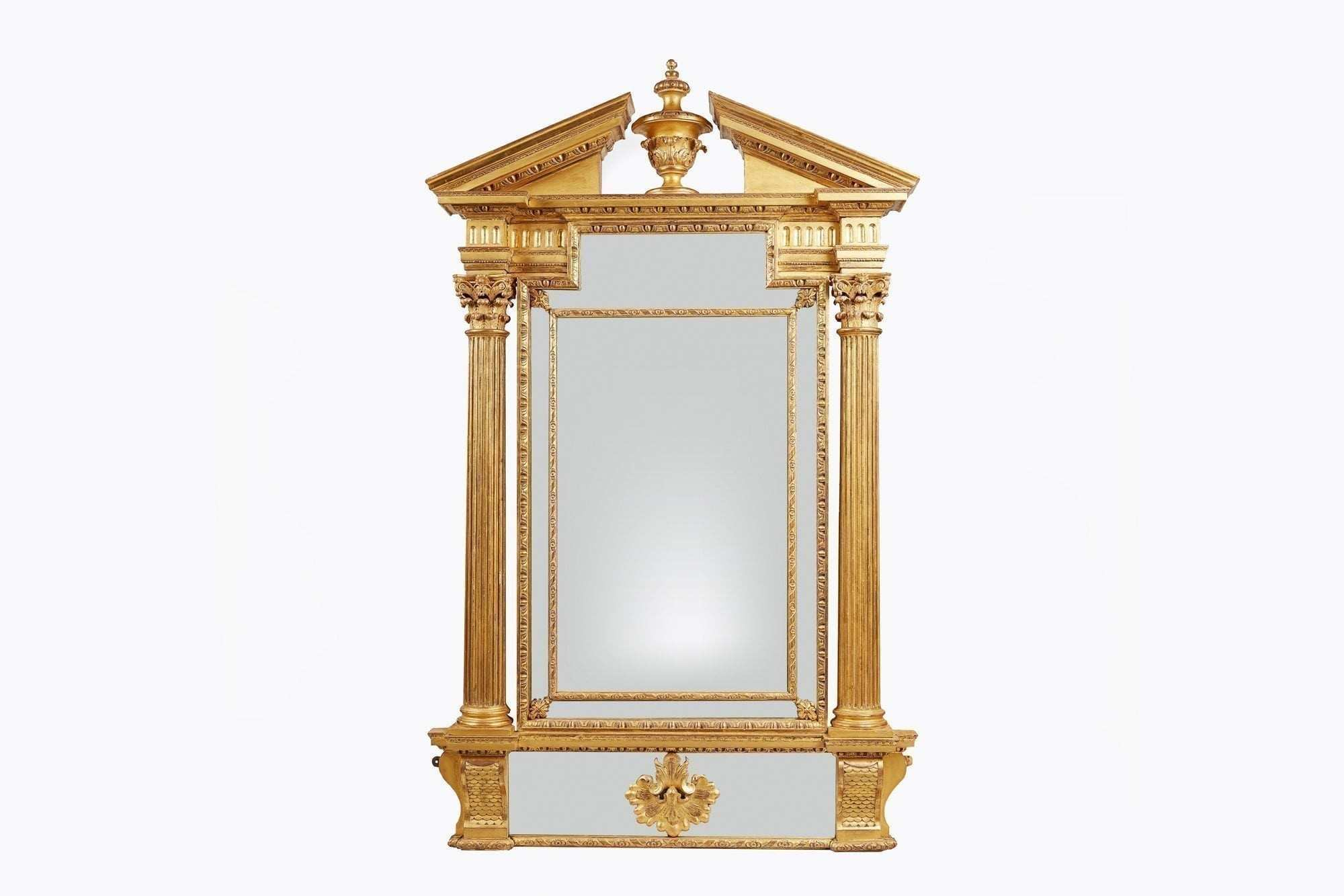 Early 19th Century Neoclassical Giltwood Mirror after Booker