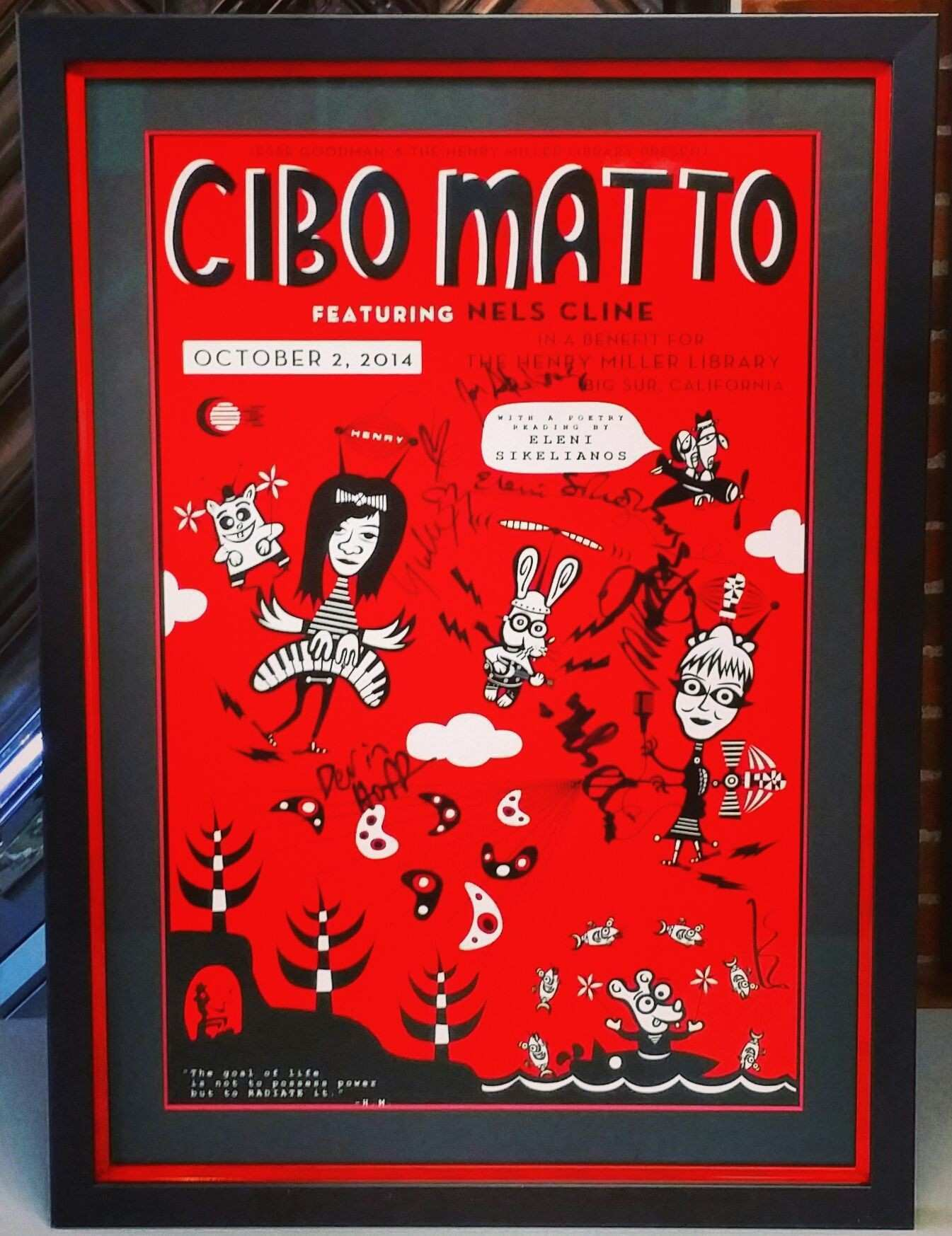 Cibo Mattoï ¿ signed print using a colorcore acid free mat museum