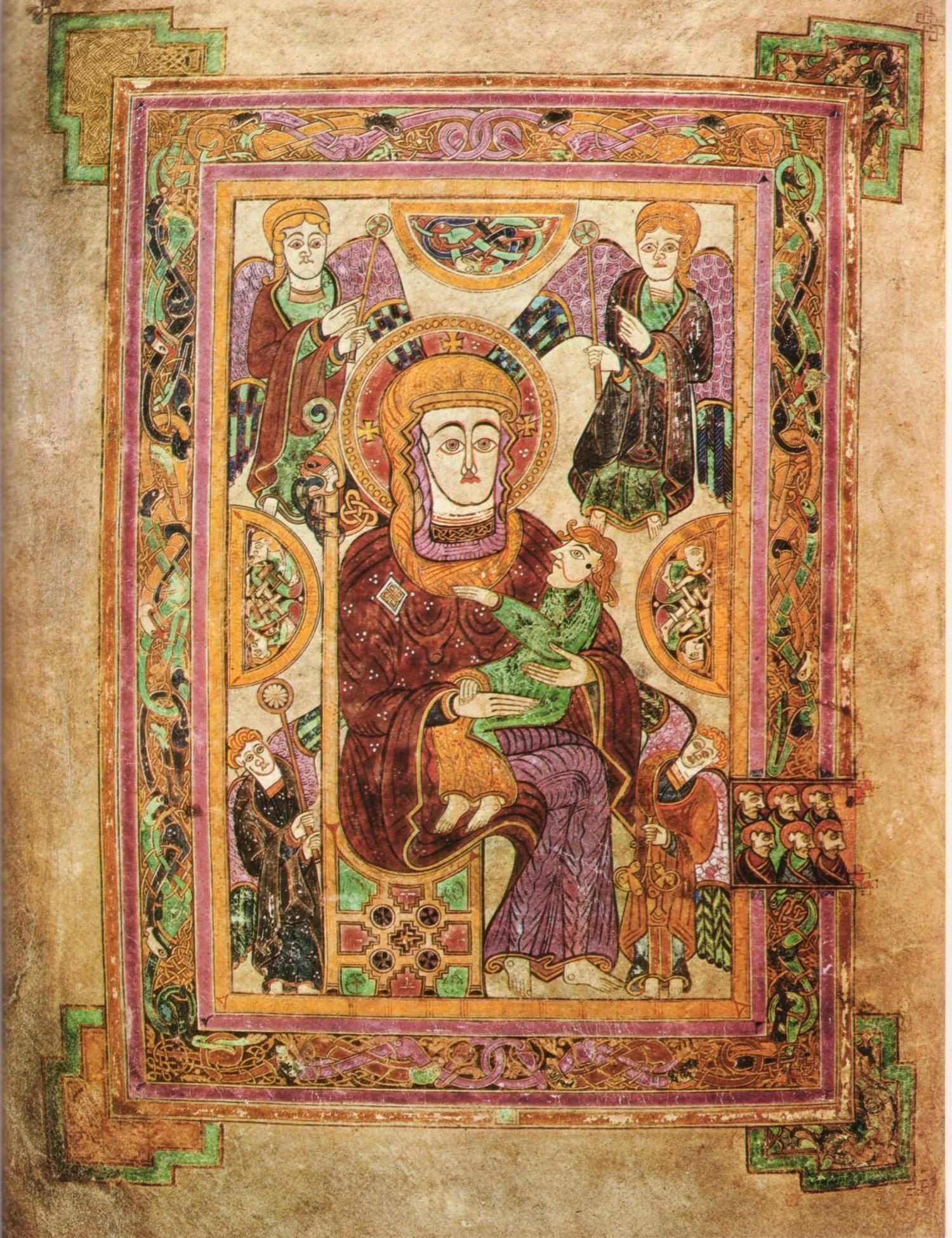 Virgin and Child Book of Kells late 8th 9th c Migration Period