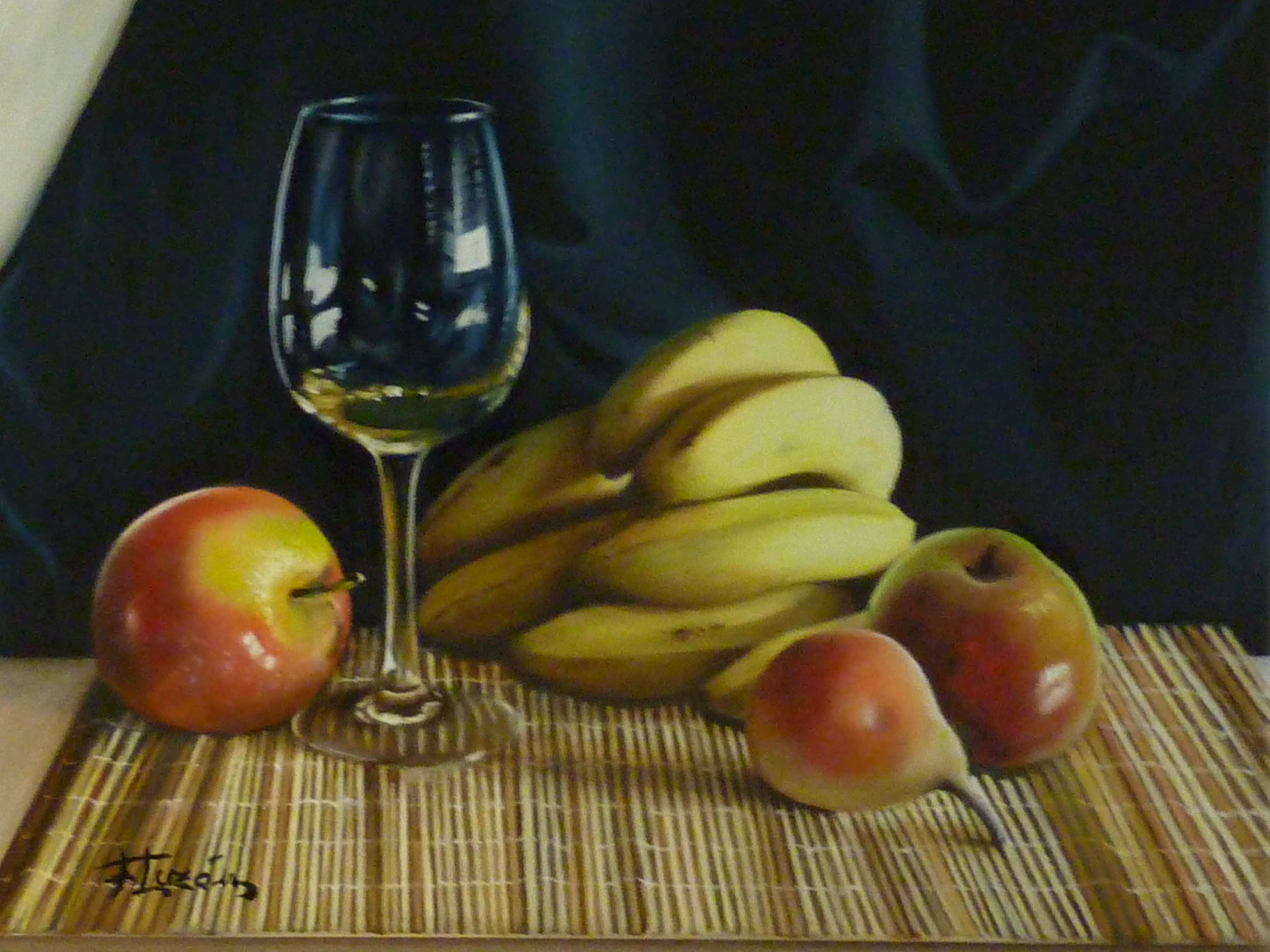Cup with fruits original picture Oil on Canvas pictures