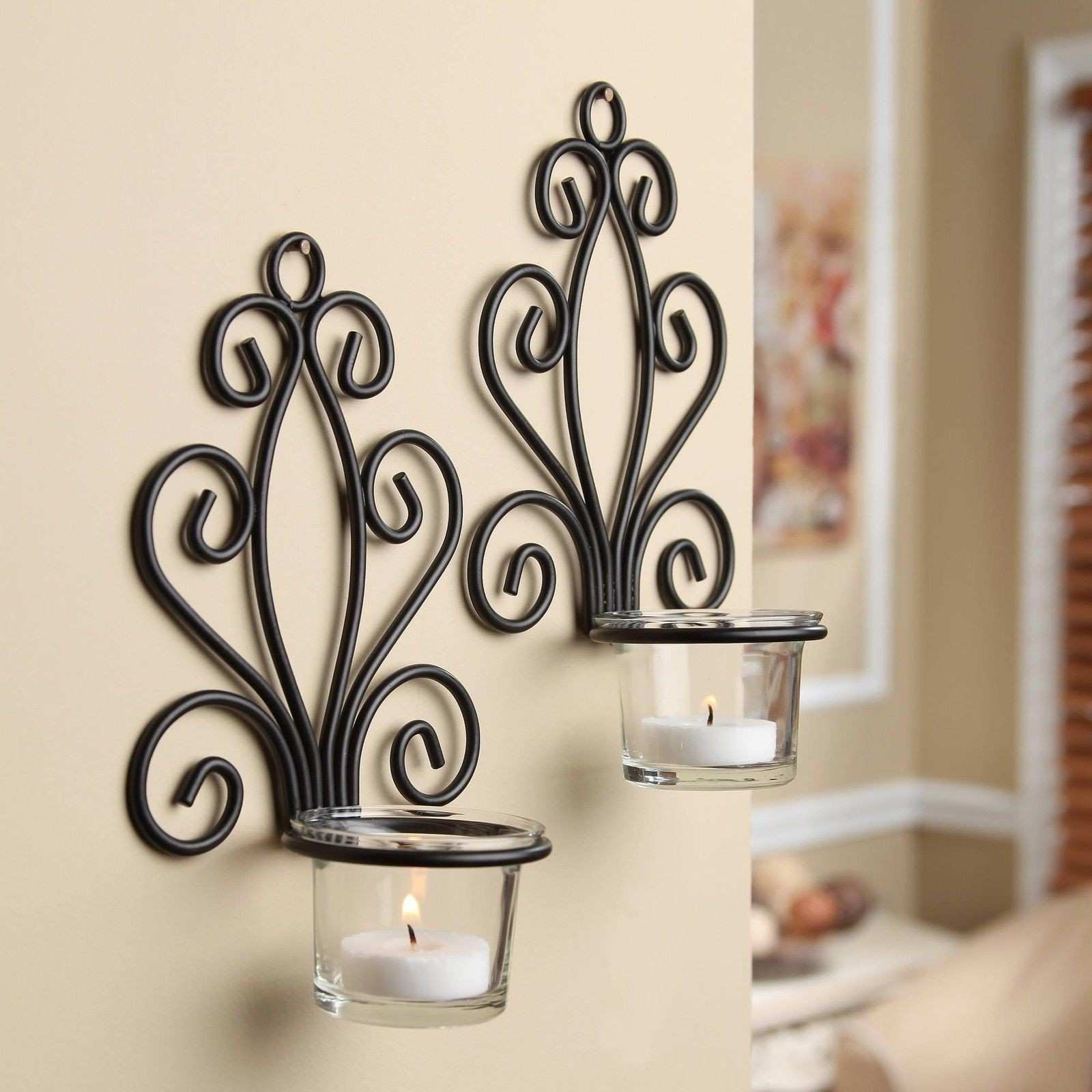 Mainstays Scroll Wall Sconce Candleholders Set of 2