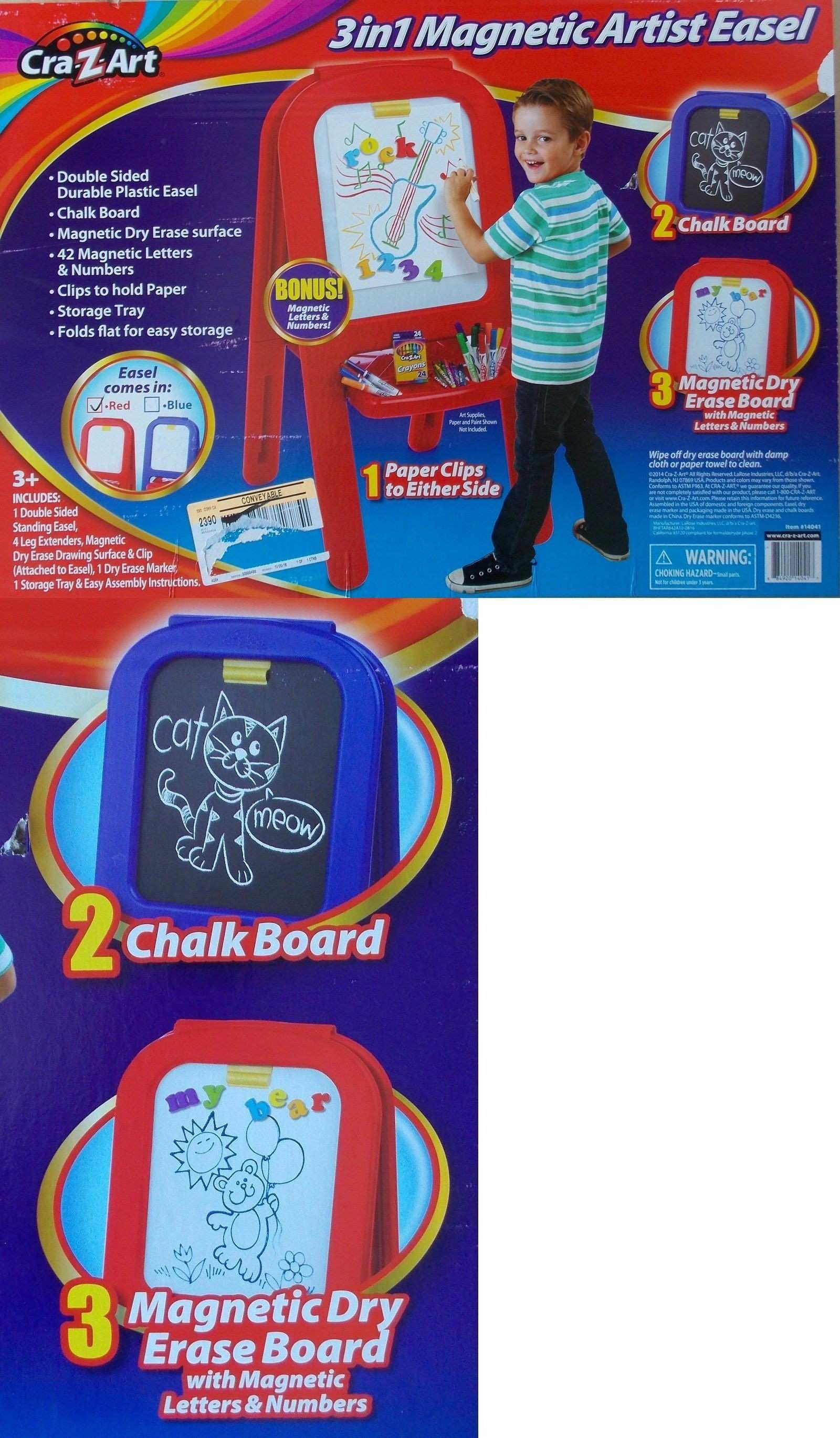 Easels Cra Z Art Kids 3 In 1 Artist Easel Chalk And Magnetic