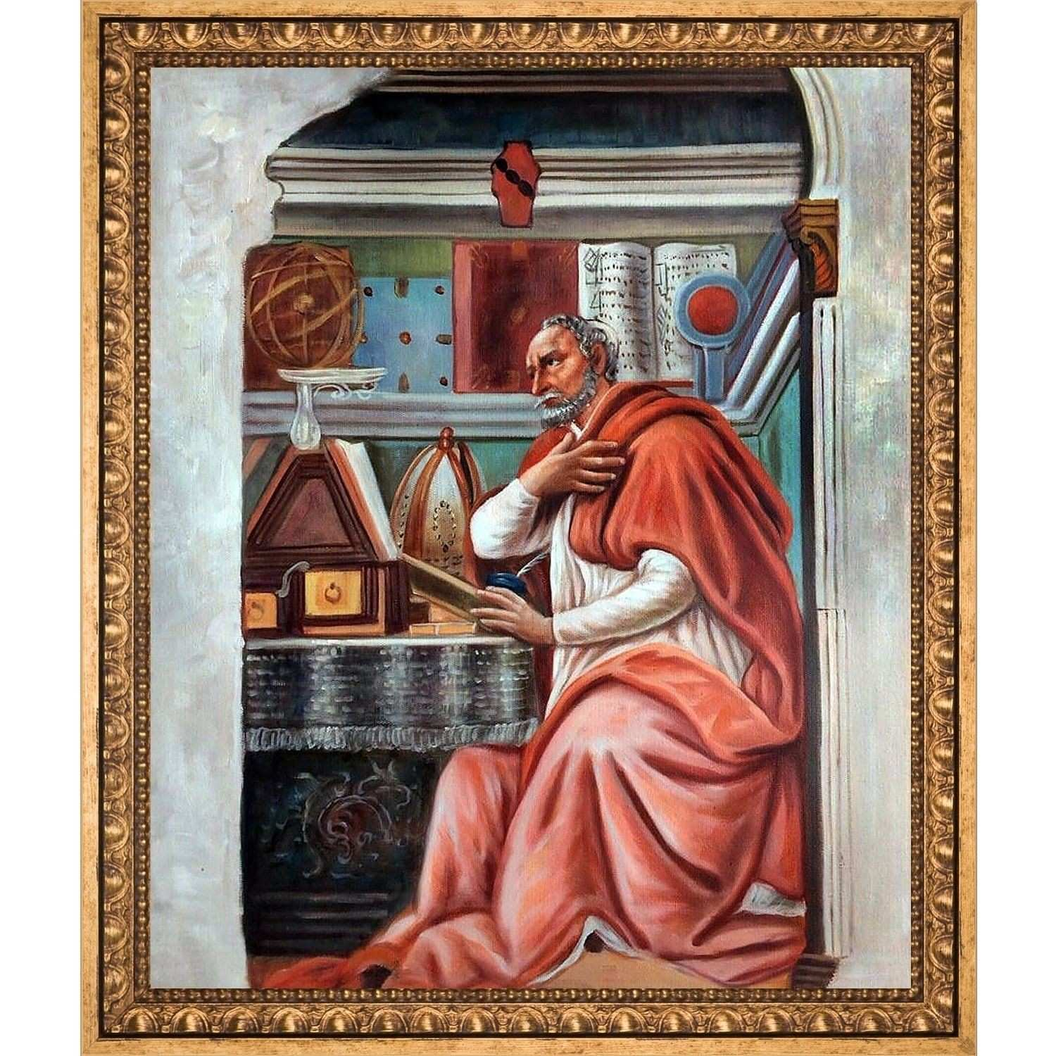 Sandro Botticelli St Augustine Hand Painted Oil Reproduction