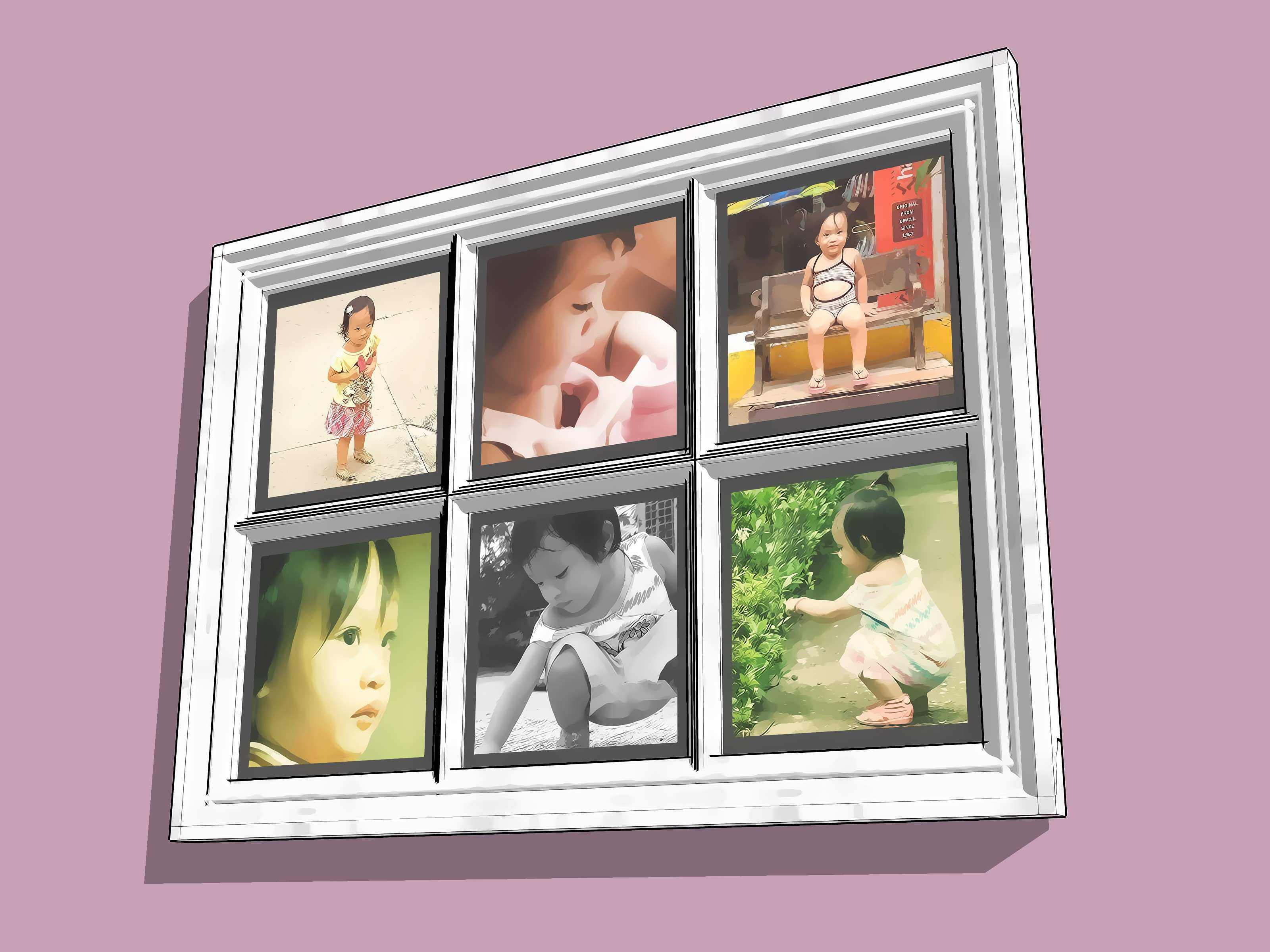 3 Ways to Create a Hanging Picture Frame from an Old Window