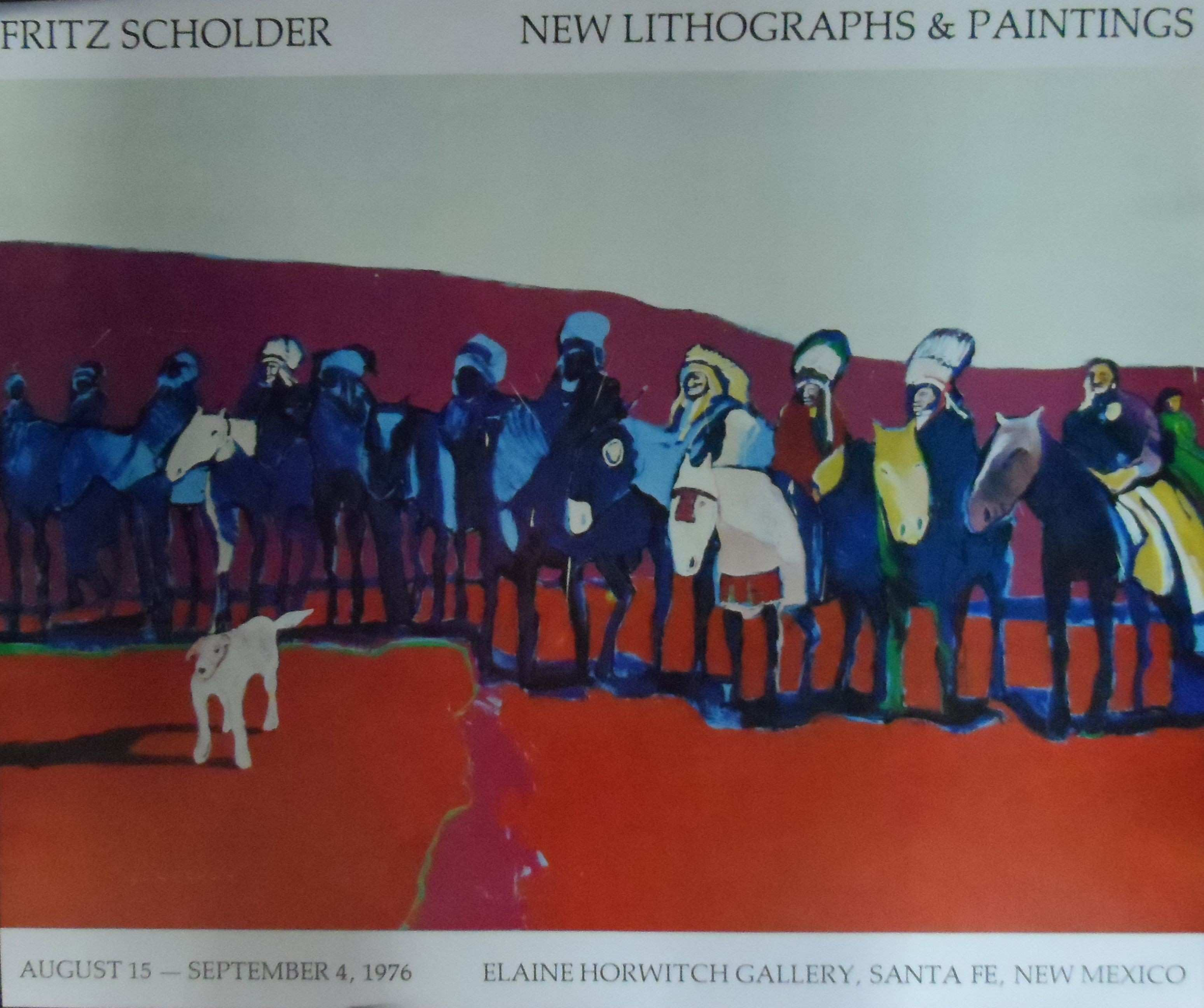 Fritz Scholder New Lithographs & Painting poster Limtted Ediition
